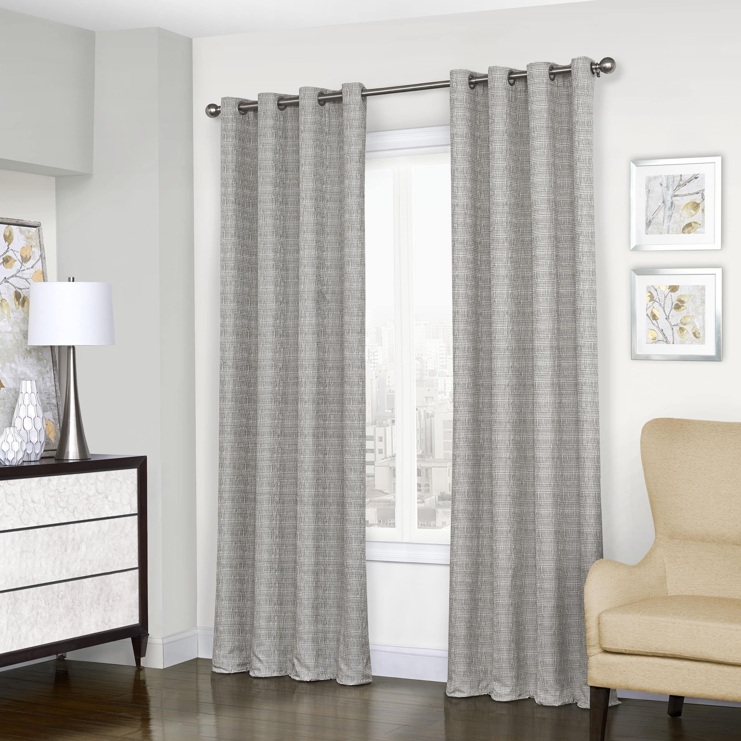 Featured Photo of Eclipse Trevi Blackout Grommet Window Curtain Panels