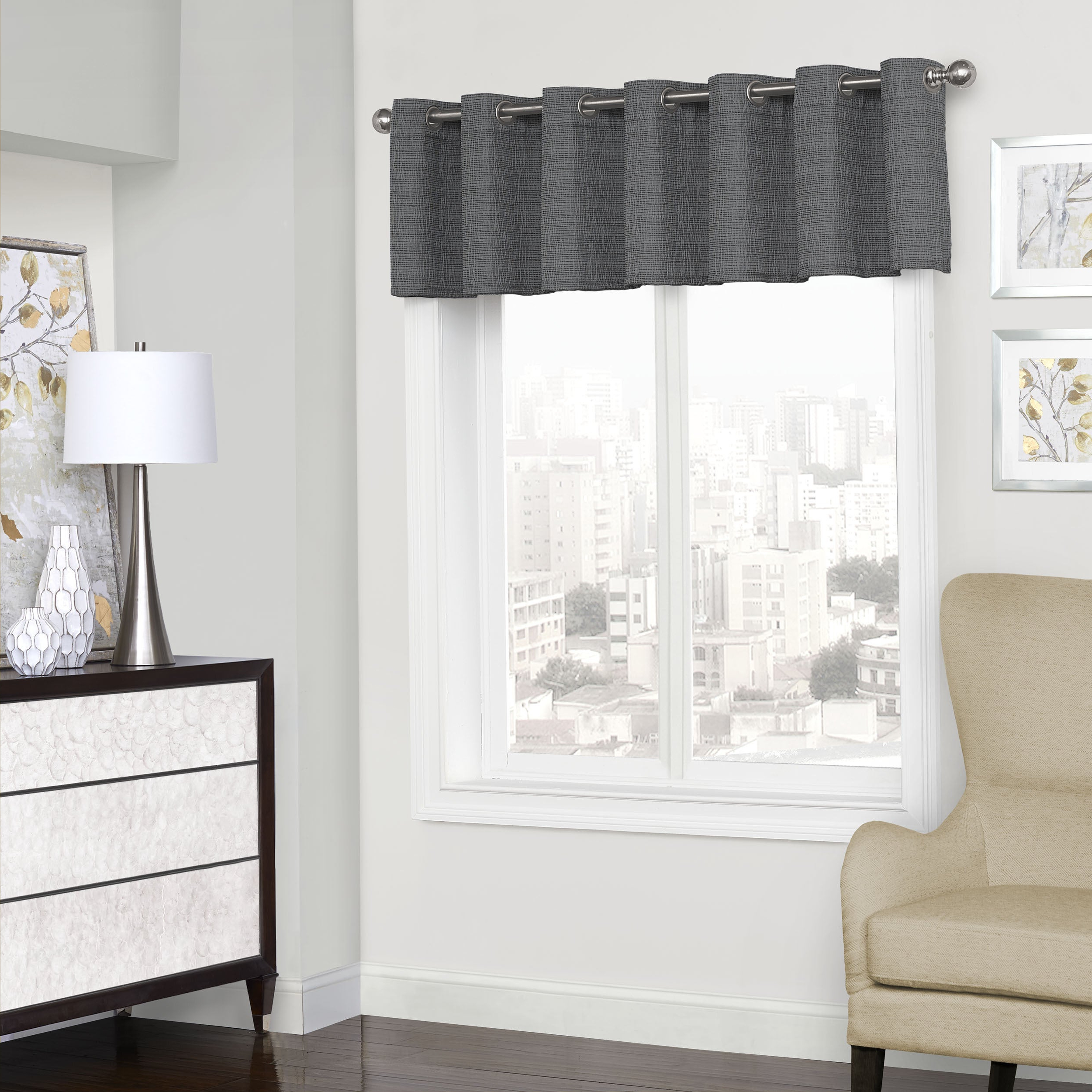 Eclipse Trevi Blackout Grommet Window Valance – 52X18 With Regard To Famous Eclipse Trevi Blackout Grommet Window Curtain Panels (Gallery 7 of 20)