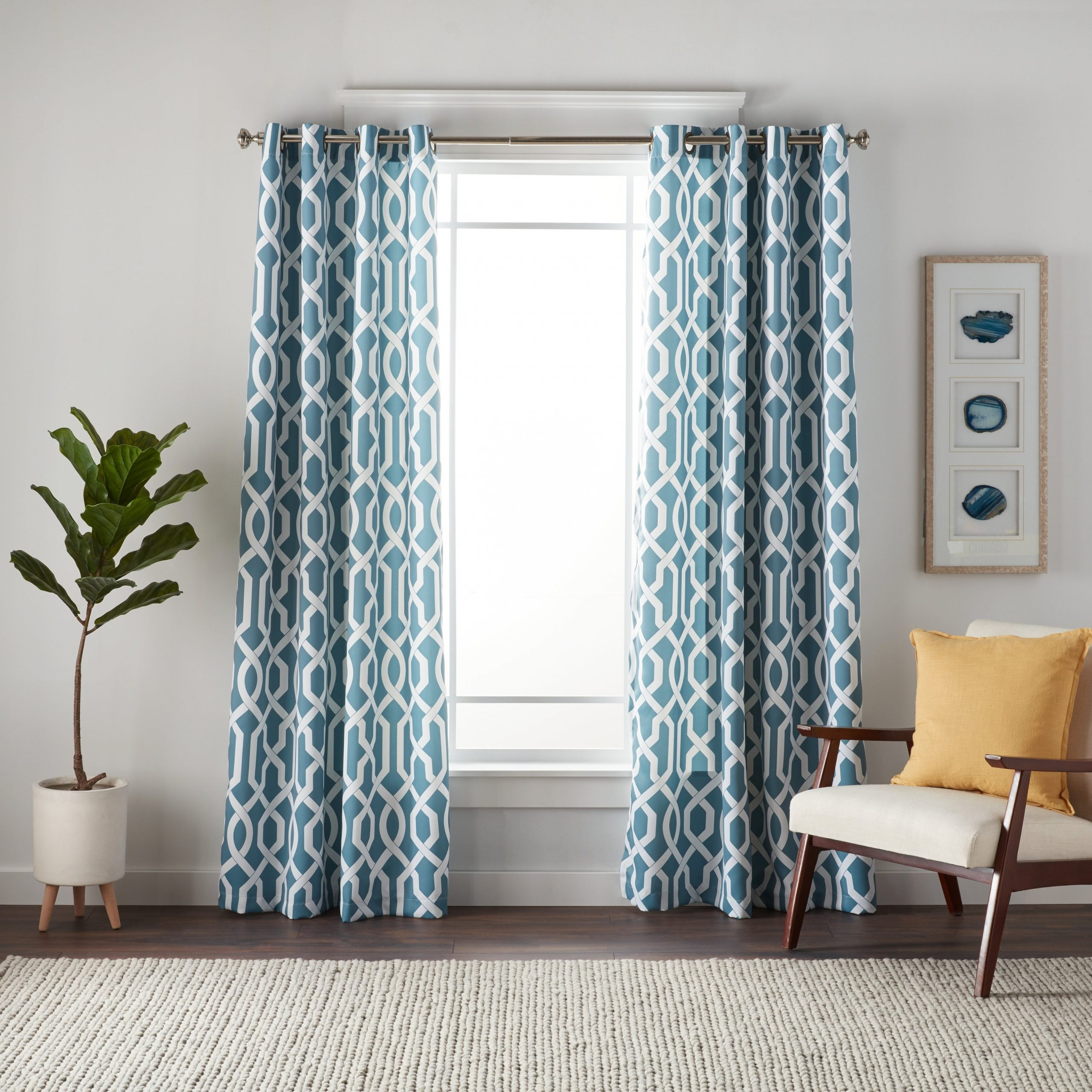 Featured Photo of Edward Moroccan Pattern Room Darkening Curtain Panel Pairs