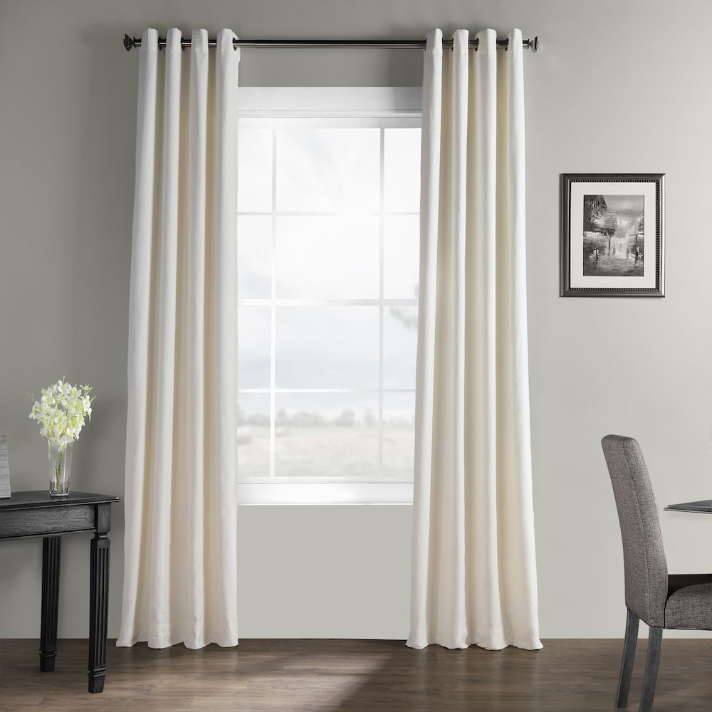Eff Bark Weave Solid Grommet Window Curtain (View 15 of 20)
