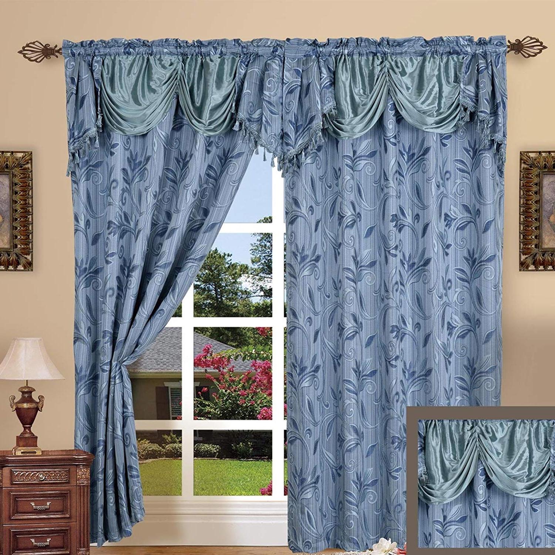 Elegance Linen Luxury Jacquard Curtain Panel (View 19 of 20)