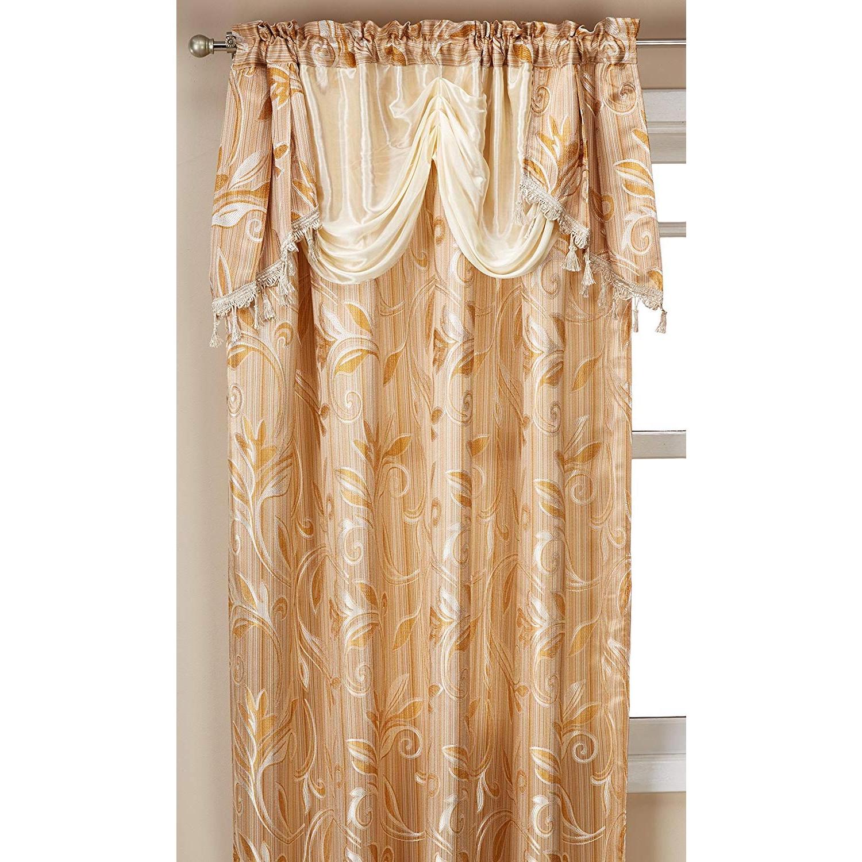 Elegance Linen Luxury Jacquard Curtain Panel (View 14 of 20)