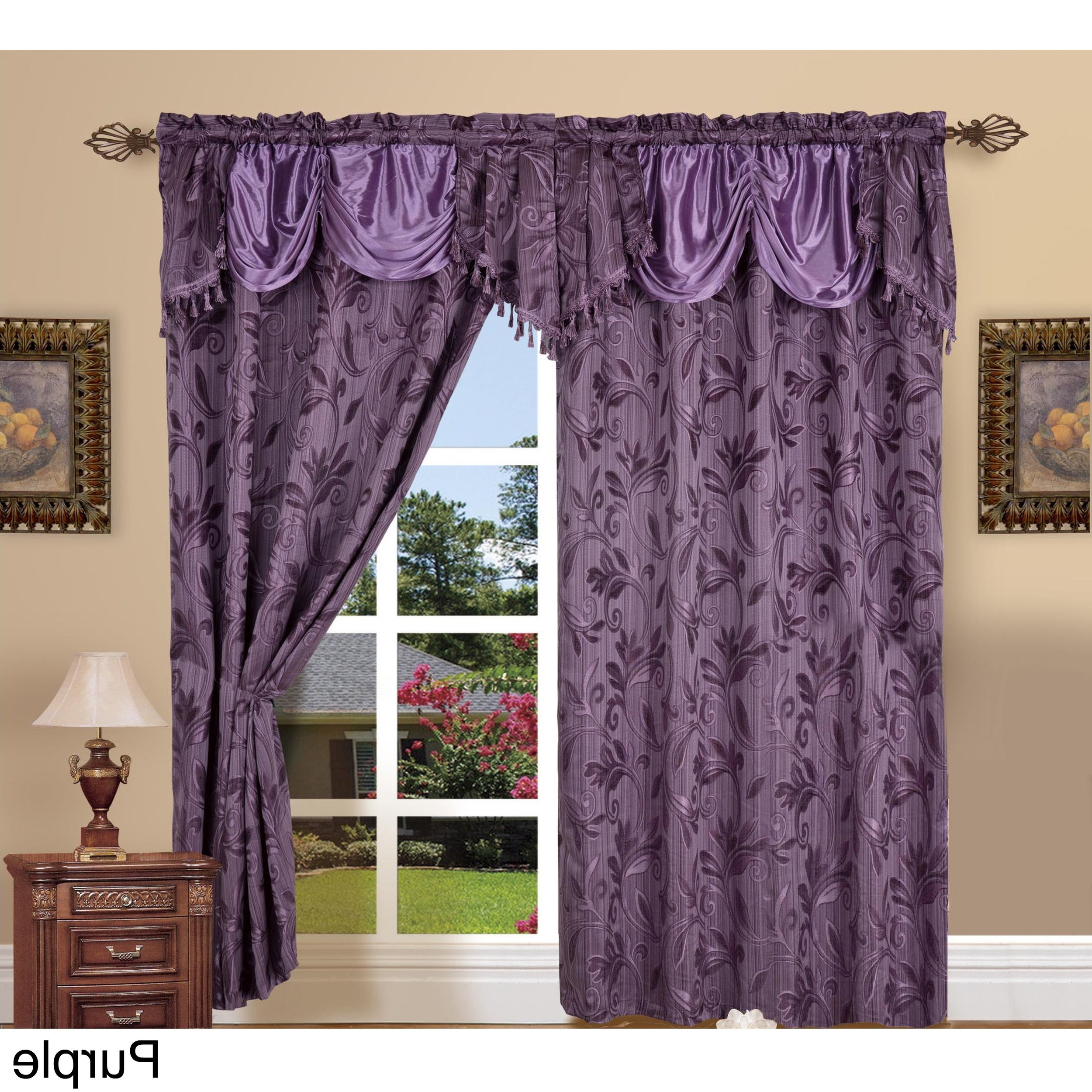 Elegant Comfort Luxury Jacquard Rod Pocket 54 Inch Window Curtain Panel Pair Intended For Favorite Elegant Comfort Window Sheer Curtain Panel Pairs (Gallery 15 of 20)