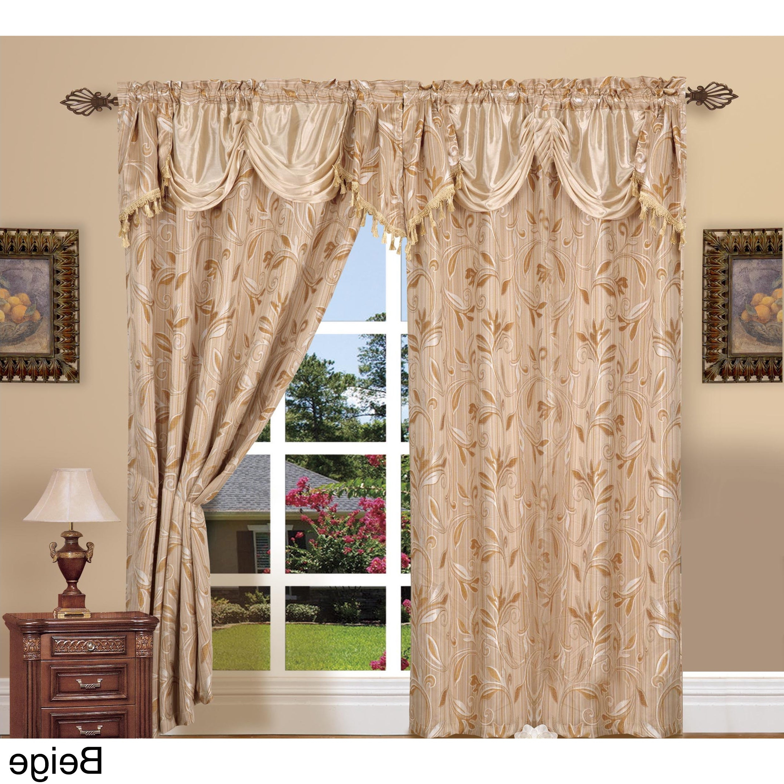 Elegant Comfort Luxury Jacquard Rod Pocket 54 Inch Window Curtain Panel Pair Throughout Most Current Elegant Comfort Window Sheer Curtain Panel Pairs (View 3 of 20)