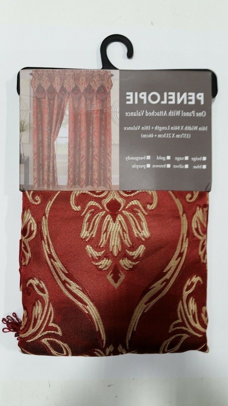Elegant Comfort Luxury Penelopie Jacquard Window Curtain Panel Pairs Regarding Most Current Set Of 2 Elegant Comfort Penelopie Jacquard Look Curtain Panel, Burgundy (View 12 of 20)