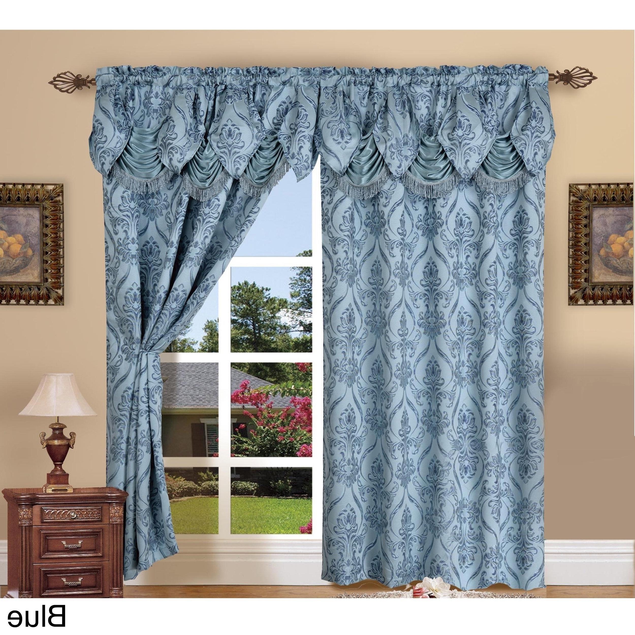 Elegant Comfort Luxury Penelopie Jacquard Window Curtain Panel Pairs Regarding Most Popular Elegant Comfort Luxury Penelopie Jacquard 84 Inch Length Window Curtain Panel Pair (View 3 of 20)