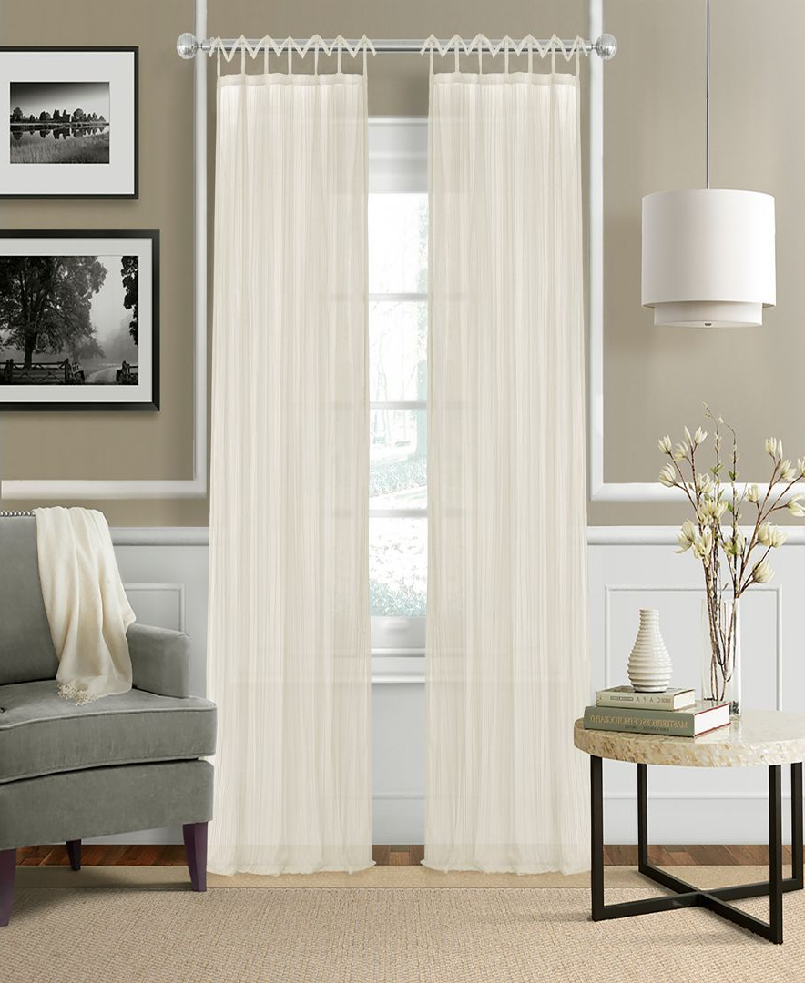 Elegantly Elevate Any Room's Look And Feel With The Delicate For Preferred Elrene Jolie Tie Top Curtain Panels (View 19 of 20)