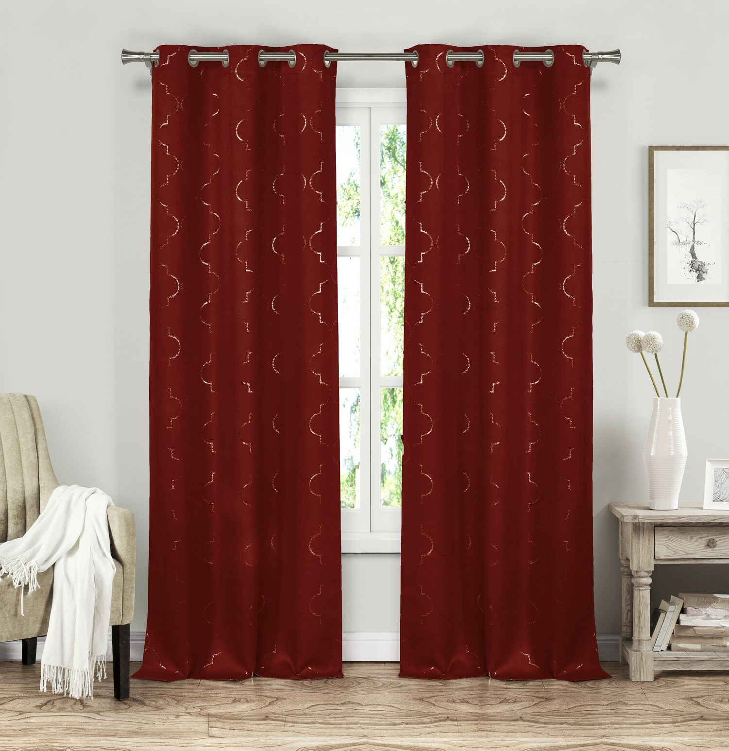 Elisabeth Solid Blackout Thermal Grommet Curtain Panels With Fashionable Davis Patio Grommet Top Single Curtain Panels (View 10 of 20)