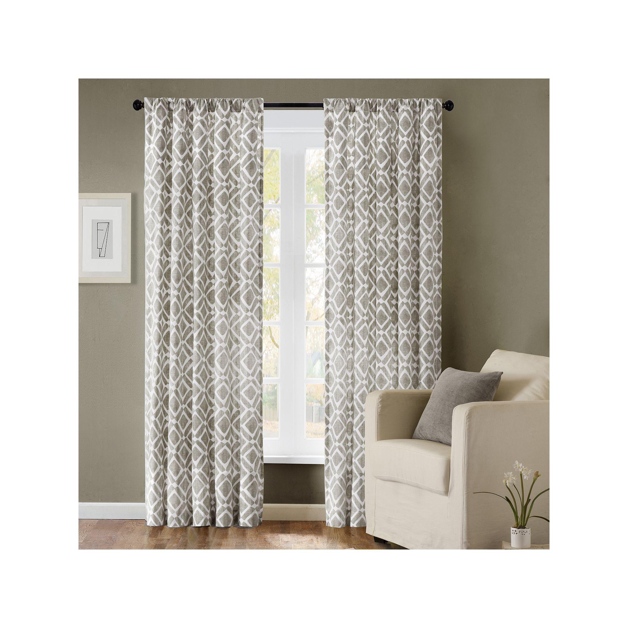 Ella Window Curtain Panels Regarding Well Liked Madison Park 1 Panel Ella Window Curtain, Grey, 42X95 (Gallery 3 of 20)