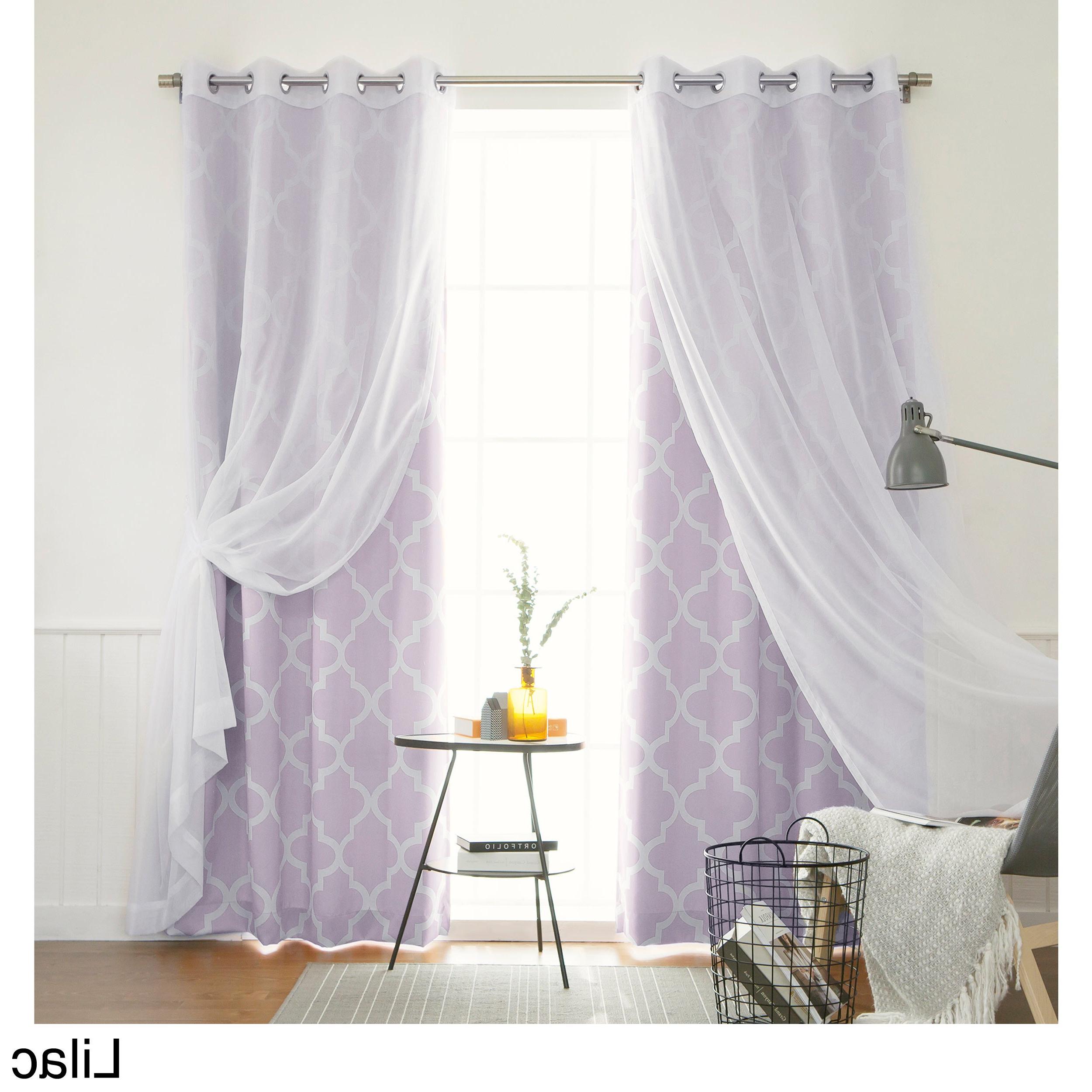 """Elrene Aurora Kids Room Darkening Layered Sheer Curtains Throughout Current Aurora Home Mix & Match Moroccan Room Darkening 4 Piece Curtain Panel Set – 52""""w X 84""""l (View 14 of 20)"""