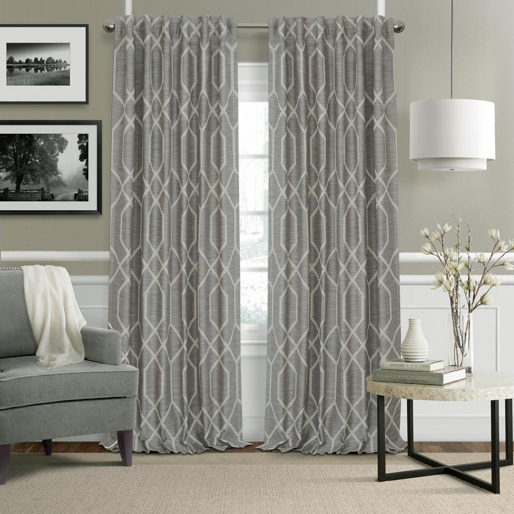 Elrene Devin Geometric Room Darkening Window Curtain For 2021 Geometric Linen Room Darkening Window Curtains (Gallery 2 of 20)