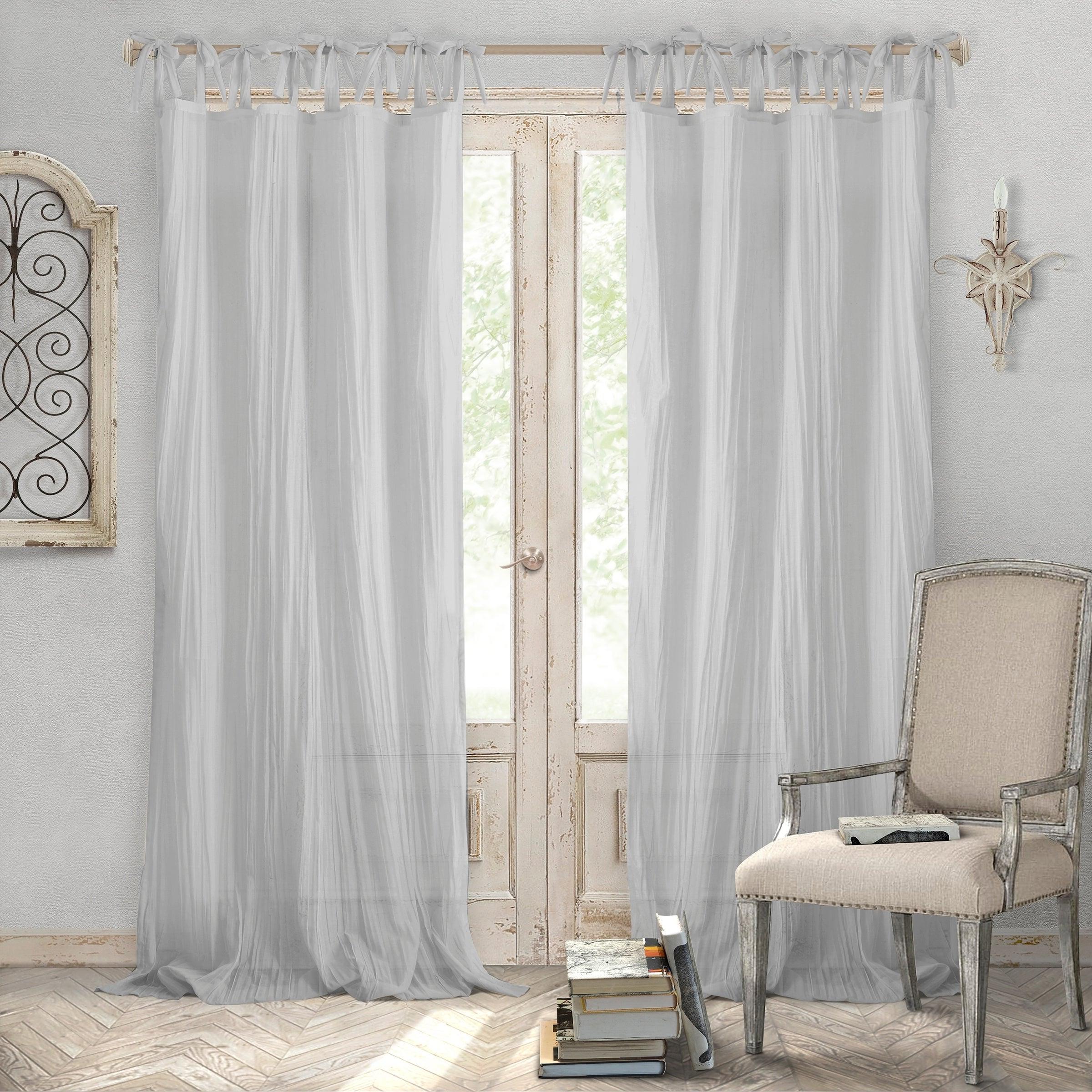 Elrene Jolie Tie Top Curtain Panel Inside Most Recent Elrene Jolie Tie Top Curtain Panels (Gallery 2 of 20)