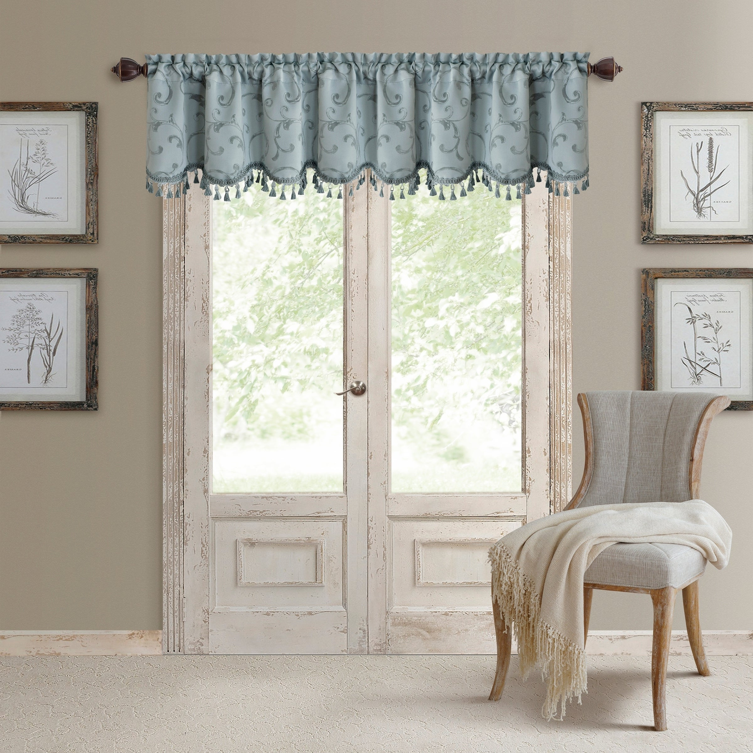 Elrene Mia Jacquard Blackout Curtain Panels In Most Recent Elrene Mia Jacquard Blackout Scallop Window Valance (Gallery 6 of 20)