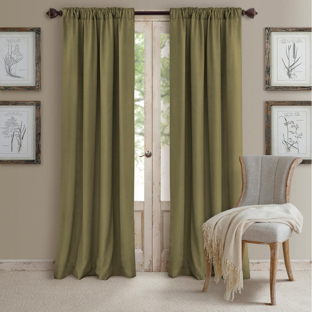 Elrene Mia Jacquard Blackout Curtain Panels In Well Known Elrene Cachet Textured Solid Blackout Window Curtain (Gallery 11 of 20)
