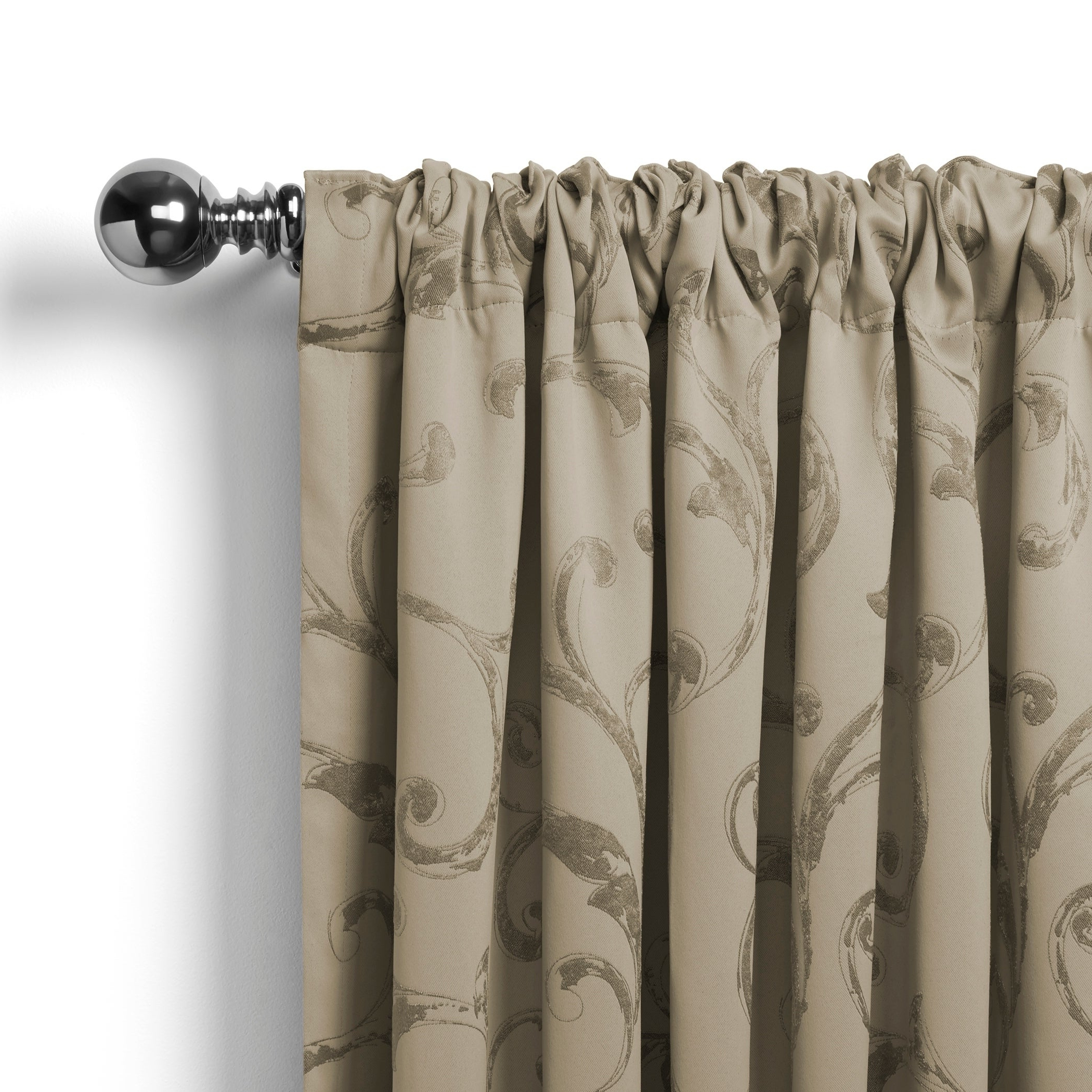 Elrene Mia Jacquard Blackout Curtain Panels Within Newest Elrene Mia Jacquard Blackout Curtain Panel (Gallery 2 of 20)