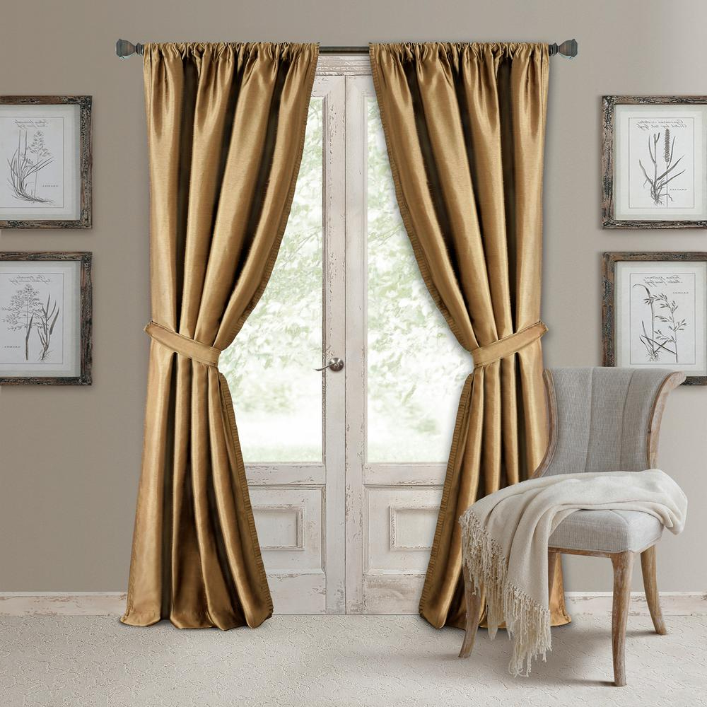 Elrene Versailles Faux Silk Blackout Window Curtain Intended For Most Recent Elrene Versailles Pleated Blackout Curtain Panels (View 2 of 20)