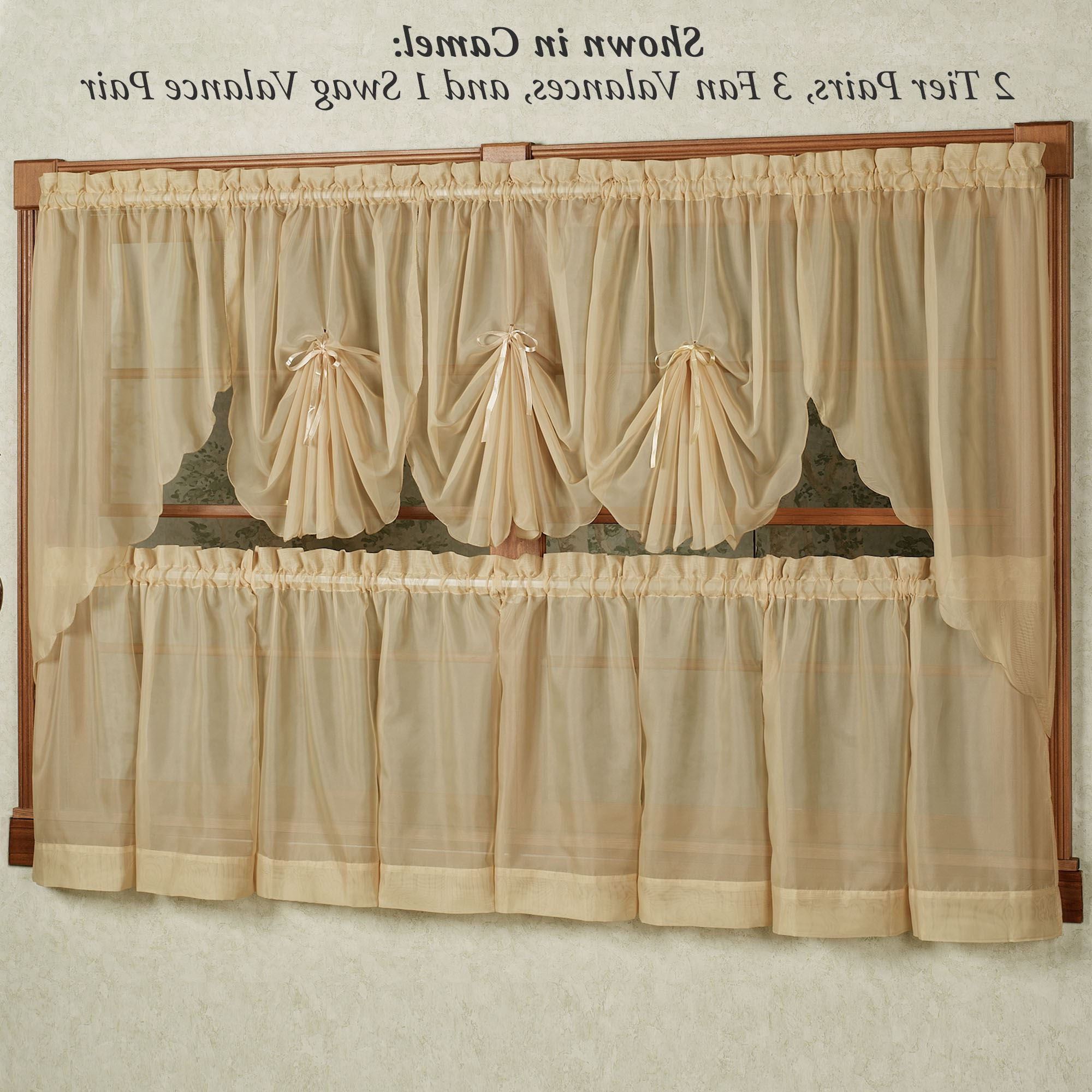 Emelia Sheer Tier Window Treatments For Trendy Pairs To Go Victoria Voile Curtain Panel Pairs (Gallery 19 of 20)
