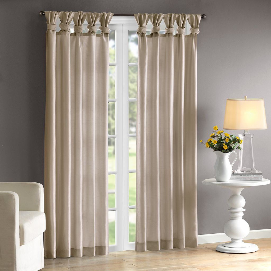 Emilia Twist Tab Lined Window Curtain (View 5 of 20)