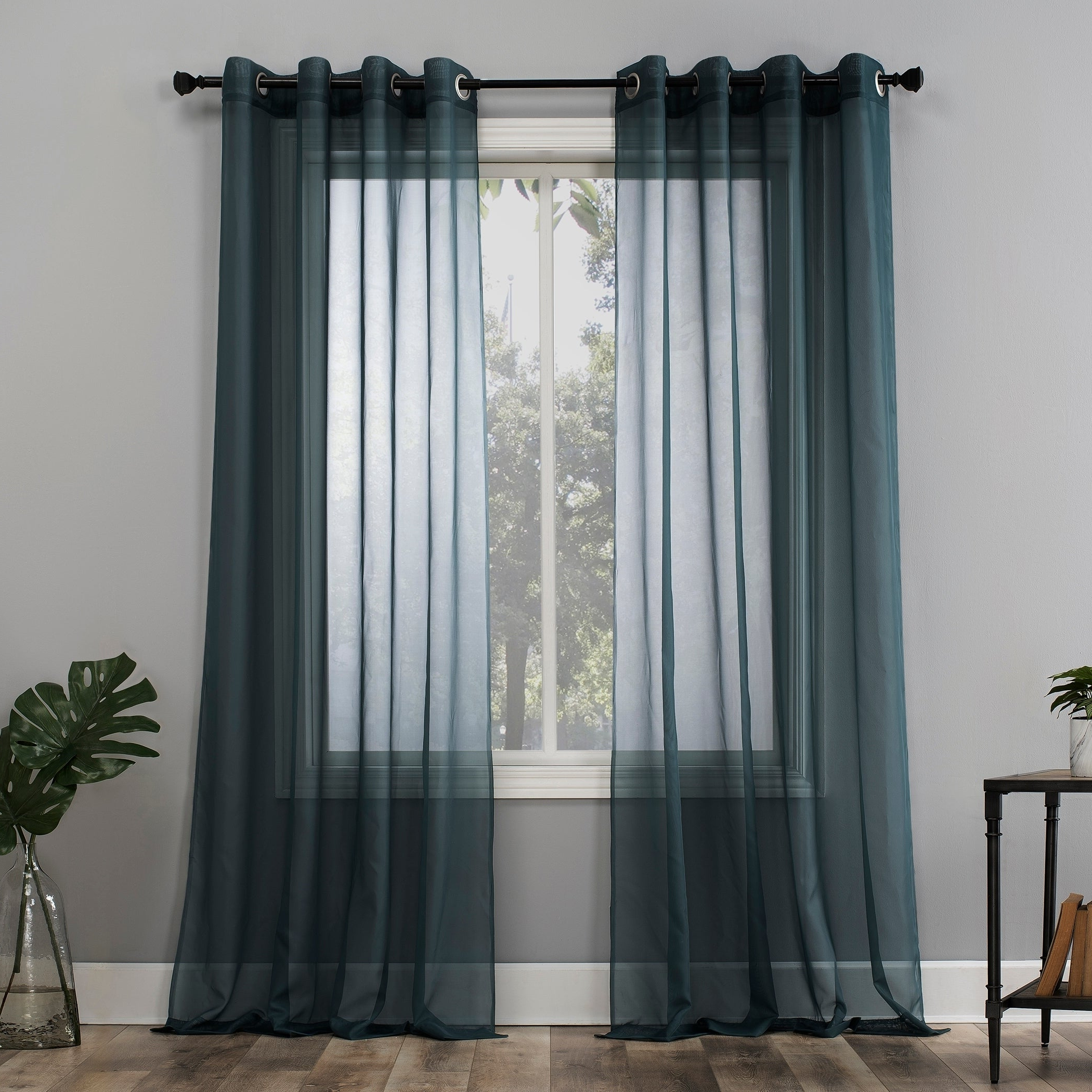 Emily Sheer Voile Grommet Curtain Panels Throughout 2021 No (View 14 of 20)