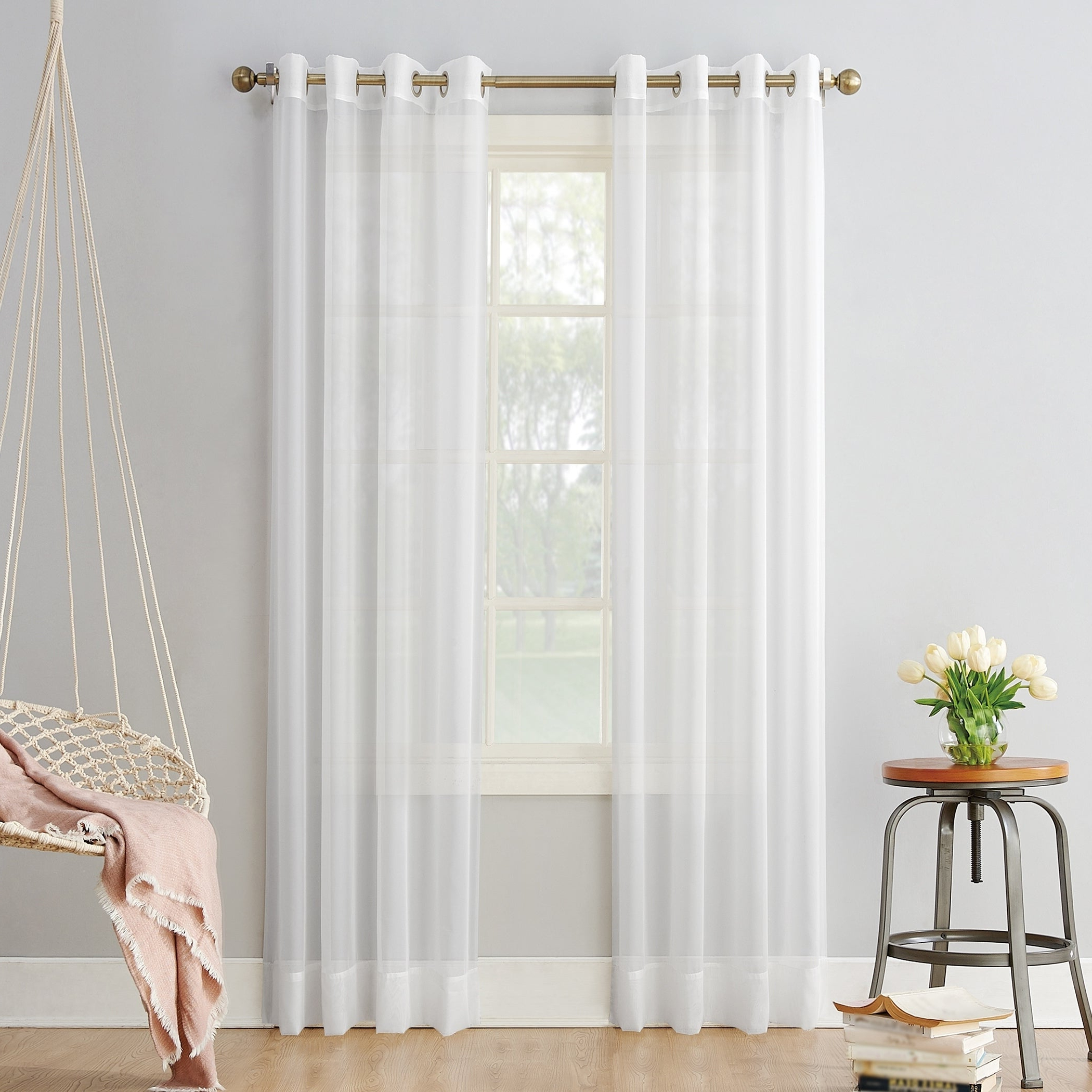 Featured Photo of Emily Sheer Voile Grommet Curtain Panels