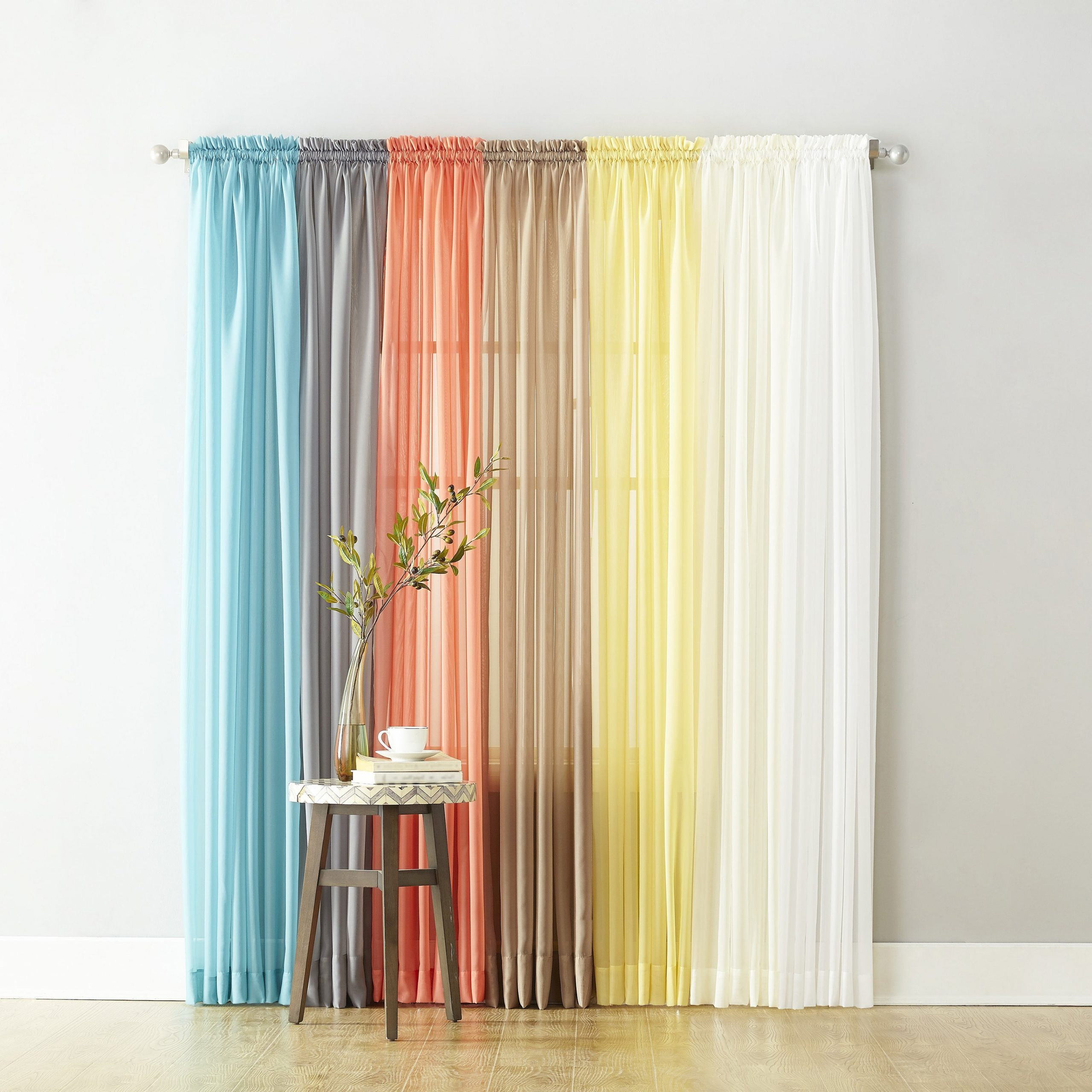Emily Sheer Voile Single Curtain Panels For Newest Shop No. 918 Emily Sheer Voile Single Curtain Panel – Free (Gallery 11 of 20)