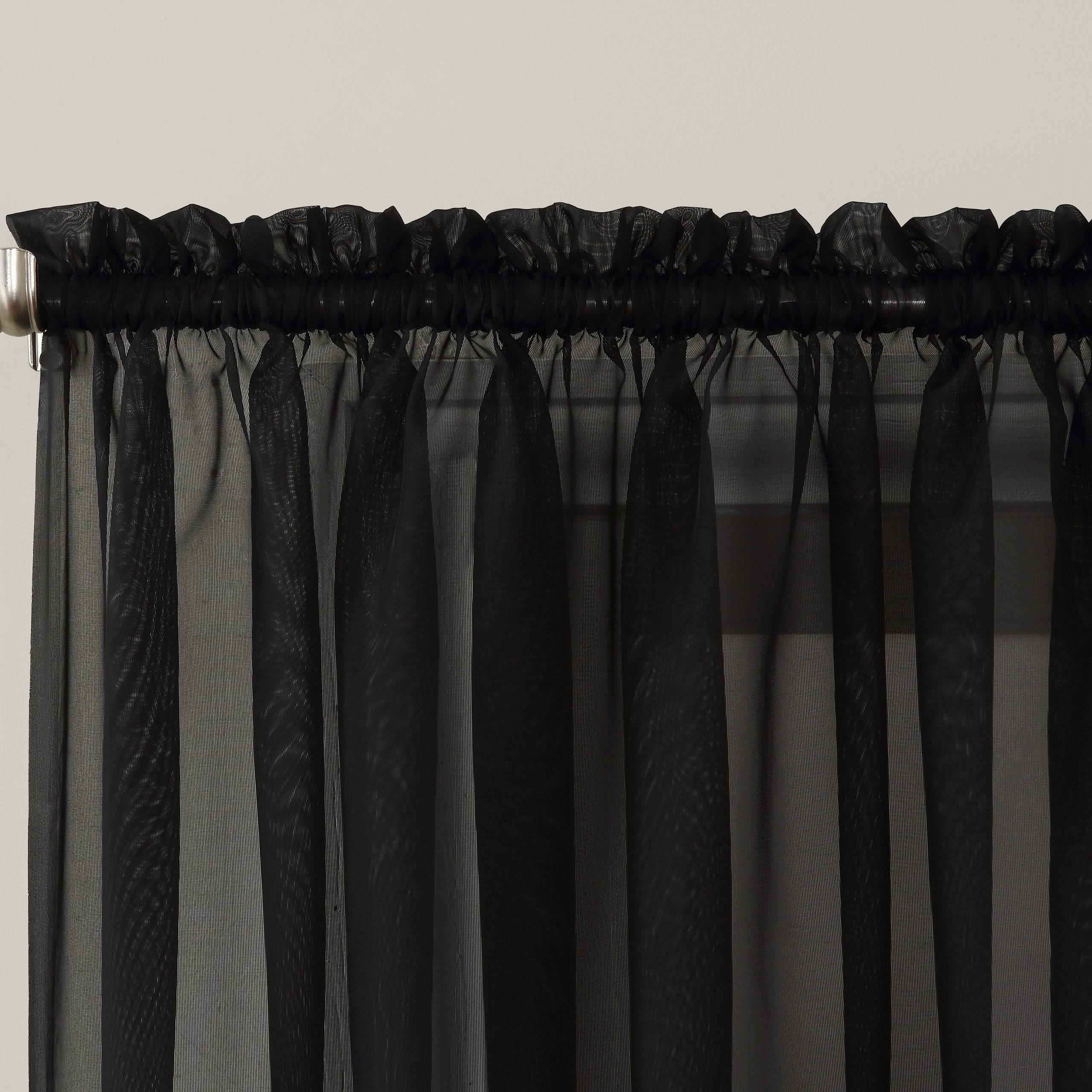 Emily Sheer Voile Single Curtain Panels Pertaining To Trendy No. 918 Emily Sheer Voile Rod Pocket Curtain Panel (Gallery 13 of 20)