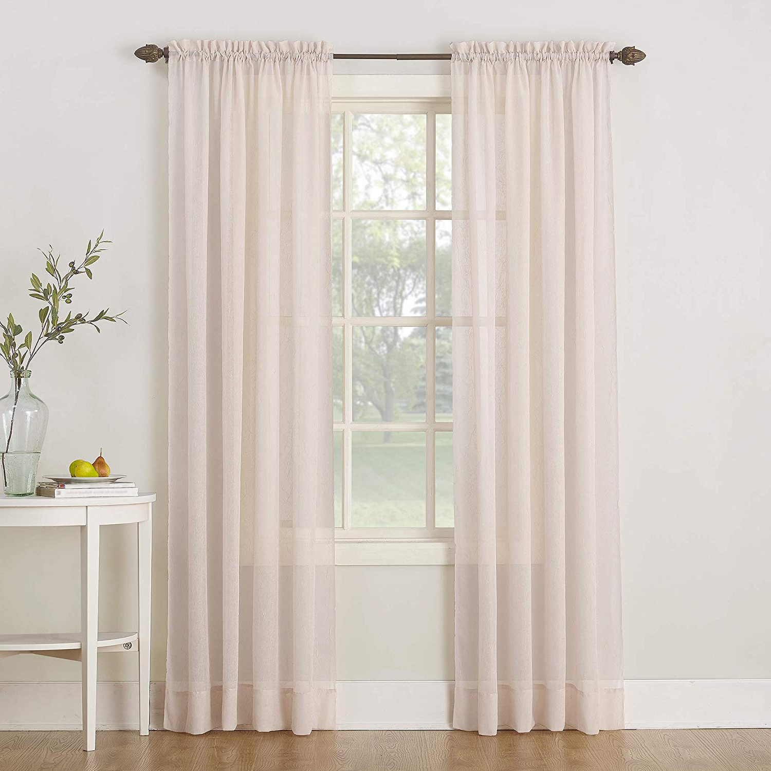 Erica Sheer Crushed Voile Single Curtain Panels Intended For Preferred No (View 19 of 20)