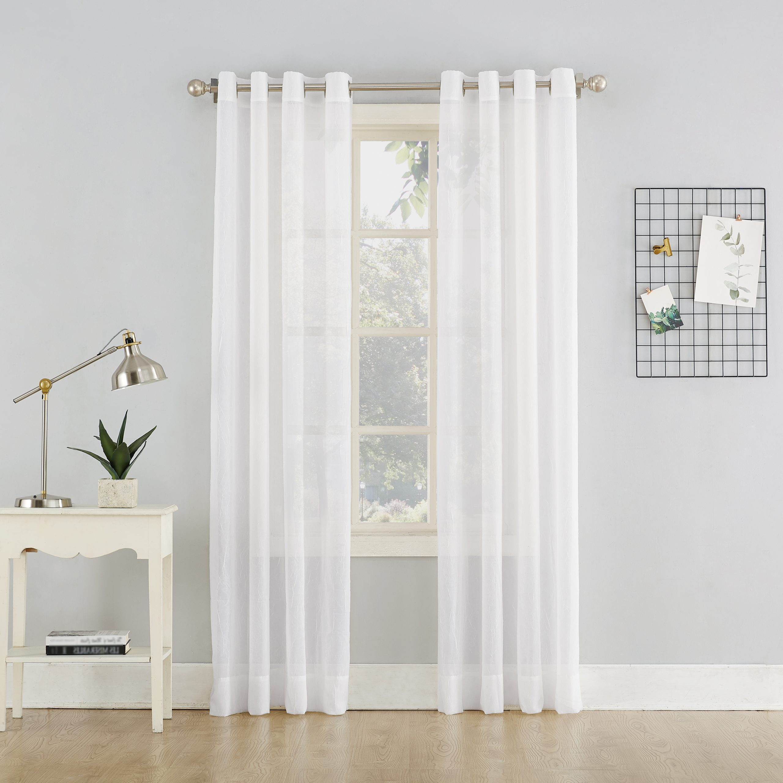 Erica Sheer Crushed Voile Single Curtain Panels Within Most Current No (View 11 of 20)