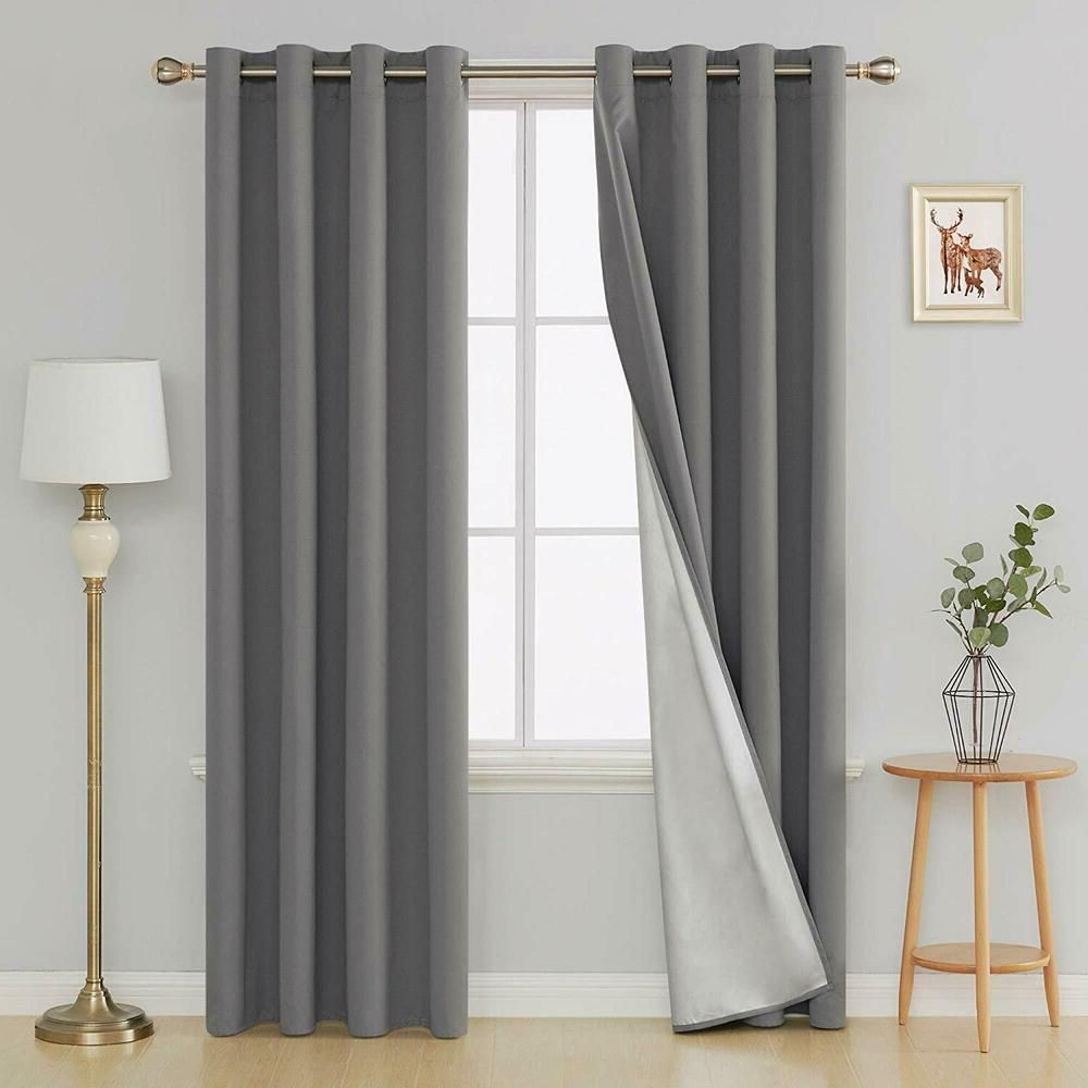 Evelyn Embossed Thermal Weaved Blackout Grommet Drapery Throughout Most Current Embossed Thermal Weaved Blackout Grommet Drapery Curtains (View 16 of 20)