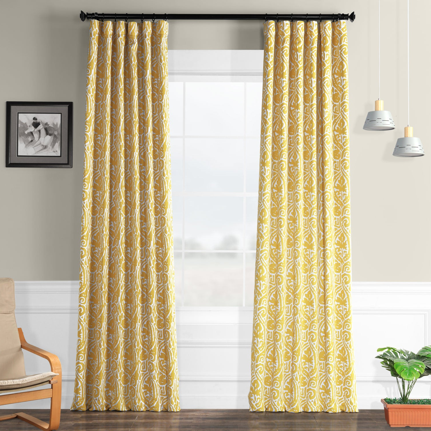 Exclusive Fabrics Abstract Blackout Curtain Panel Pair In Trendy Abstract Blackout Curtain Panel Pairs (Gallery 1 of 20)
