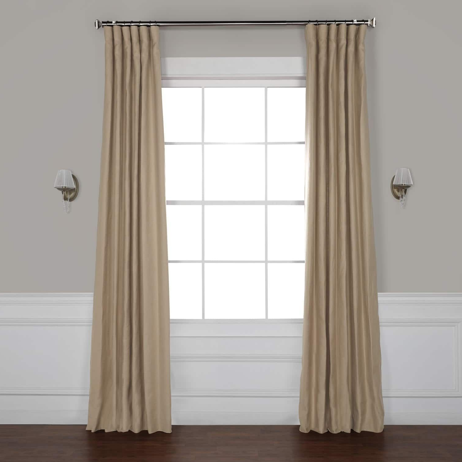 Exclusive Fabrics French Linen Lined Curtain Panel With Regard To Latest French Linen Lined Curtain Panels (View 4 of 20)