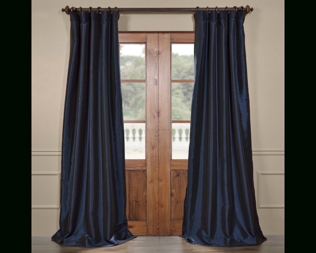 Exclusive Fabrics & Furnishing Blackout Faux Silk Taffeta Intended For Popular Solid Faux Silk Taffeta Graphite Single Curtain Panels (Gallery 7 of 20)