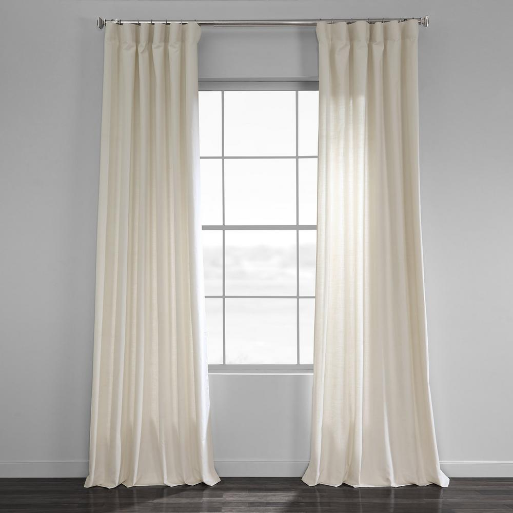 Featured Photo of Solid Country Cotton Linen Weave Curtain Panels