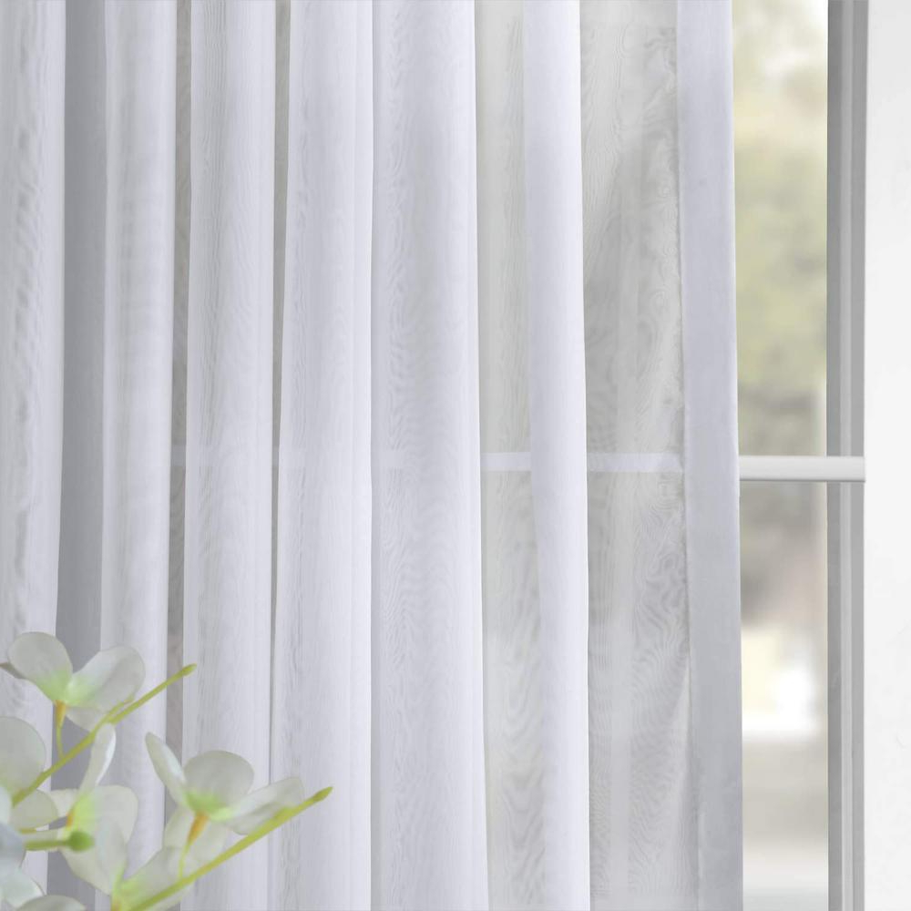 Exclusive Fabrics & Furnishings Signature Double Wide White Sheer Curtain – 100 In. W X 108 In (View 6 of 20)