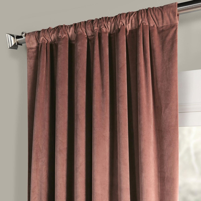 Exclusive Fabrics Heritage Plush Velvet Single Curtain Panel For Current Heritage Plush Velvet Single Curtain Panels (View 5 of 20)