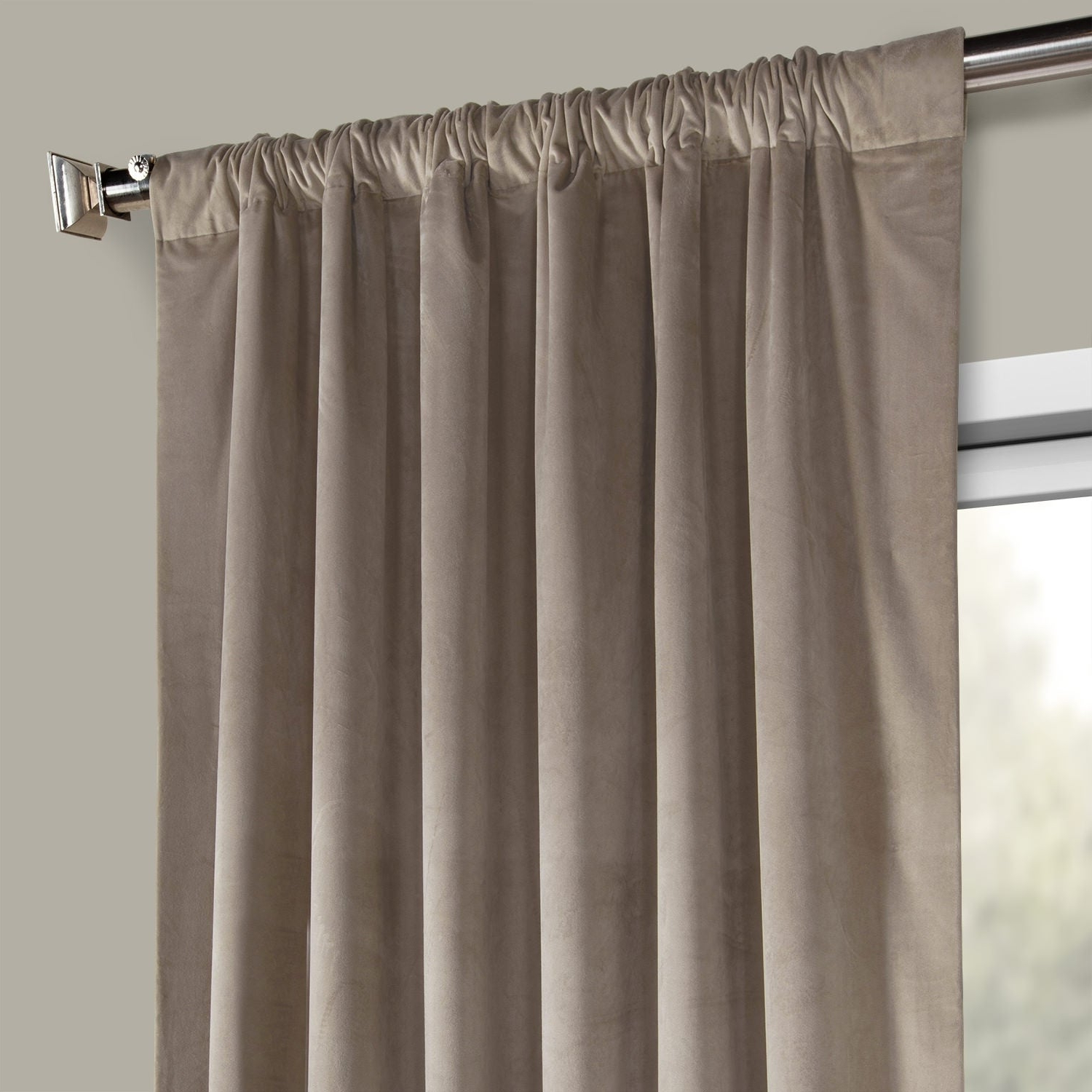 Exclusive Fabrics Heritage Plush Velvet Single Curtain Panel With Well Known Heritage Plush Velvet Curtains (View 8 of 20)