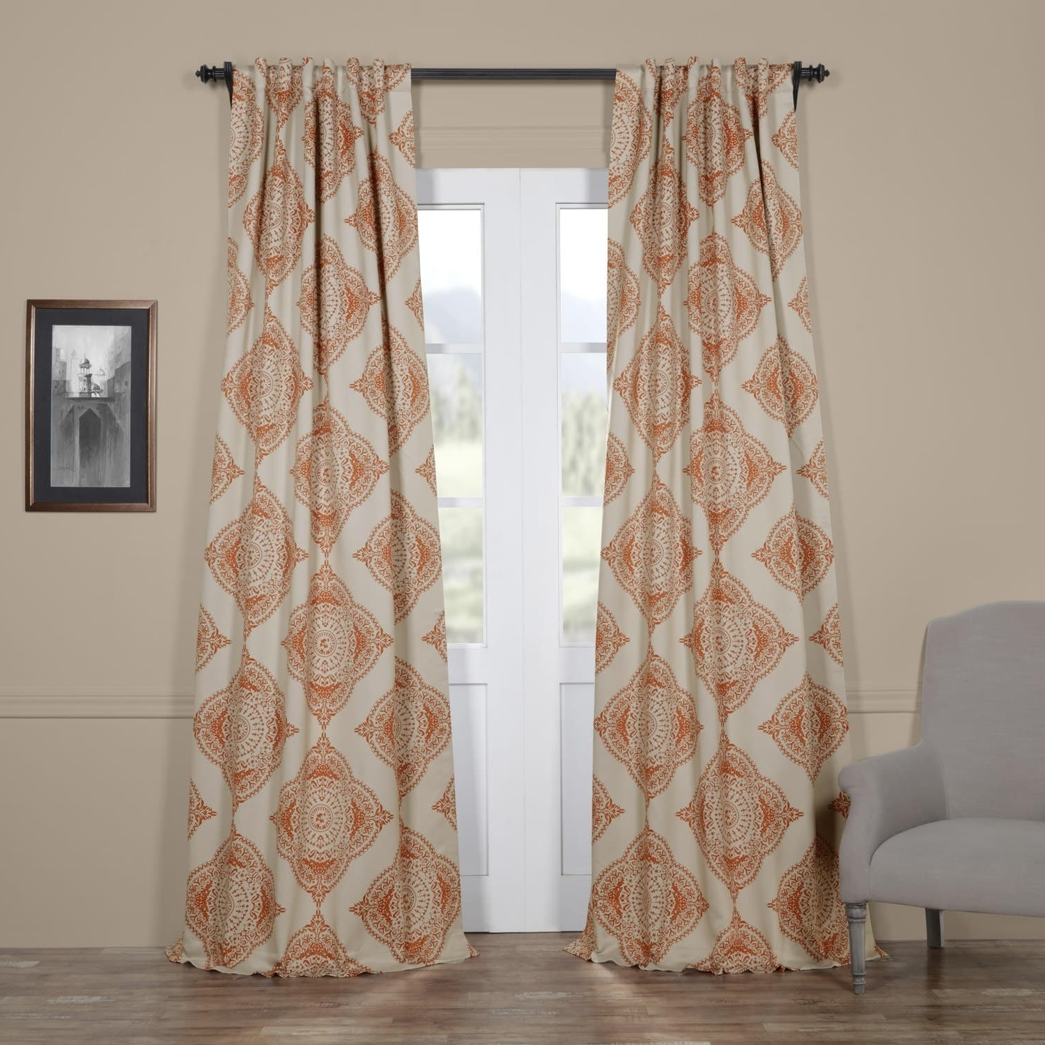 Featured Photo of Moroccan Style Thermal Insulated Blackout Curtain Panel Pairs