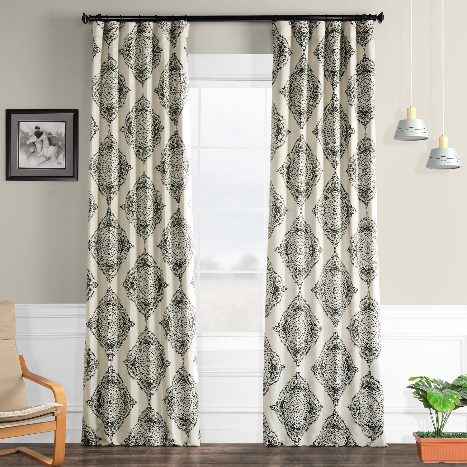 Exclusive Fabrics Moroccan Style Thermal Insulated Blackout Curtain Panel Pair Throughout Fashionable Moroccan Style Thermal Insulated Blackout Curtain Panel Pairs (View 9 of 20)