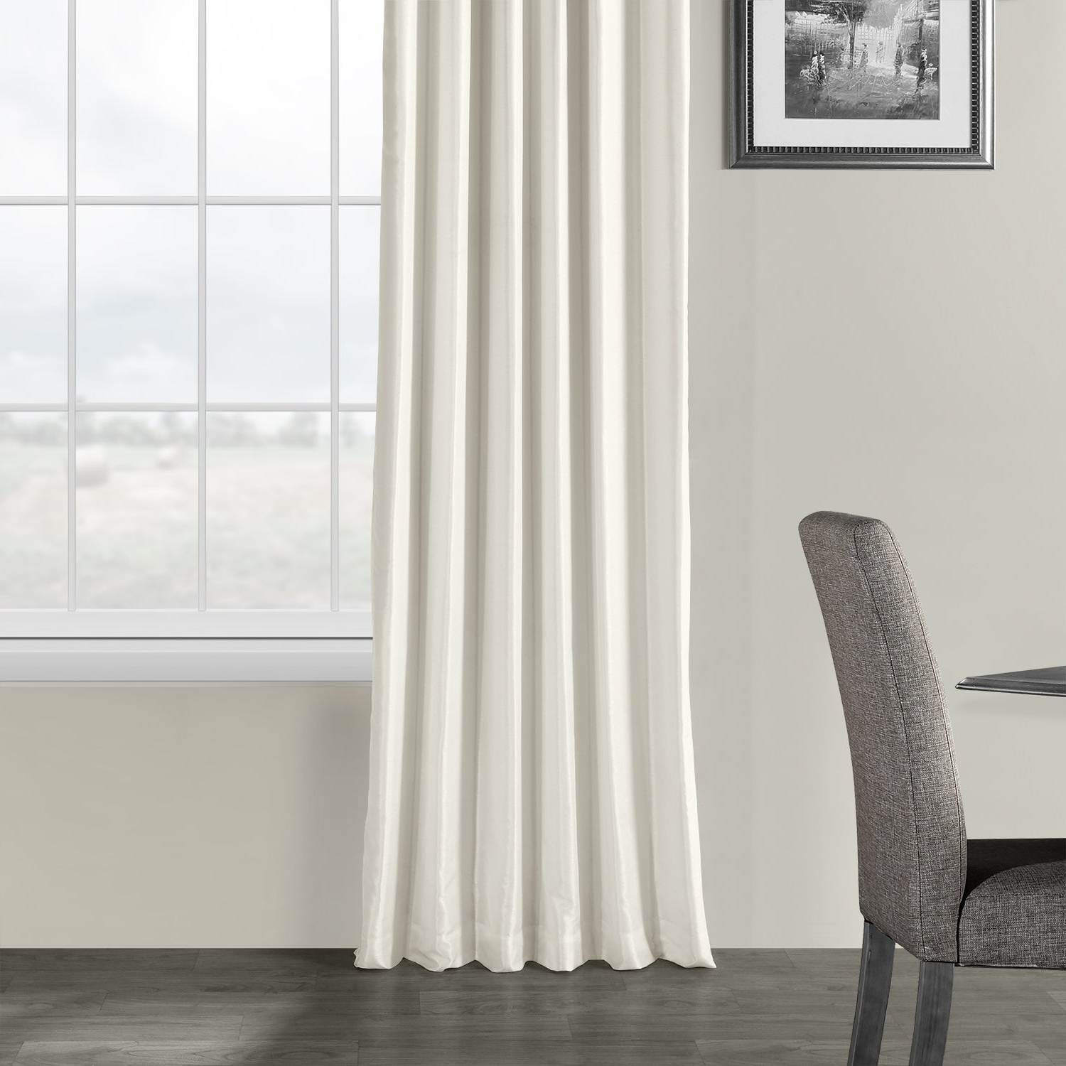 Exclusive Fabrics Off White Vintage Faux Textured Dupioni Silk Curtain With Regard To 2020 Off White Vintage Faux Textured Silk Curtains (Gallery 4 of 20)