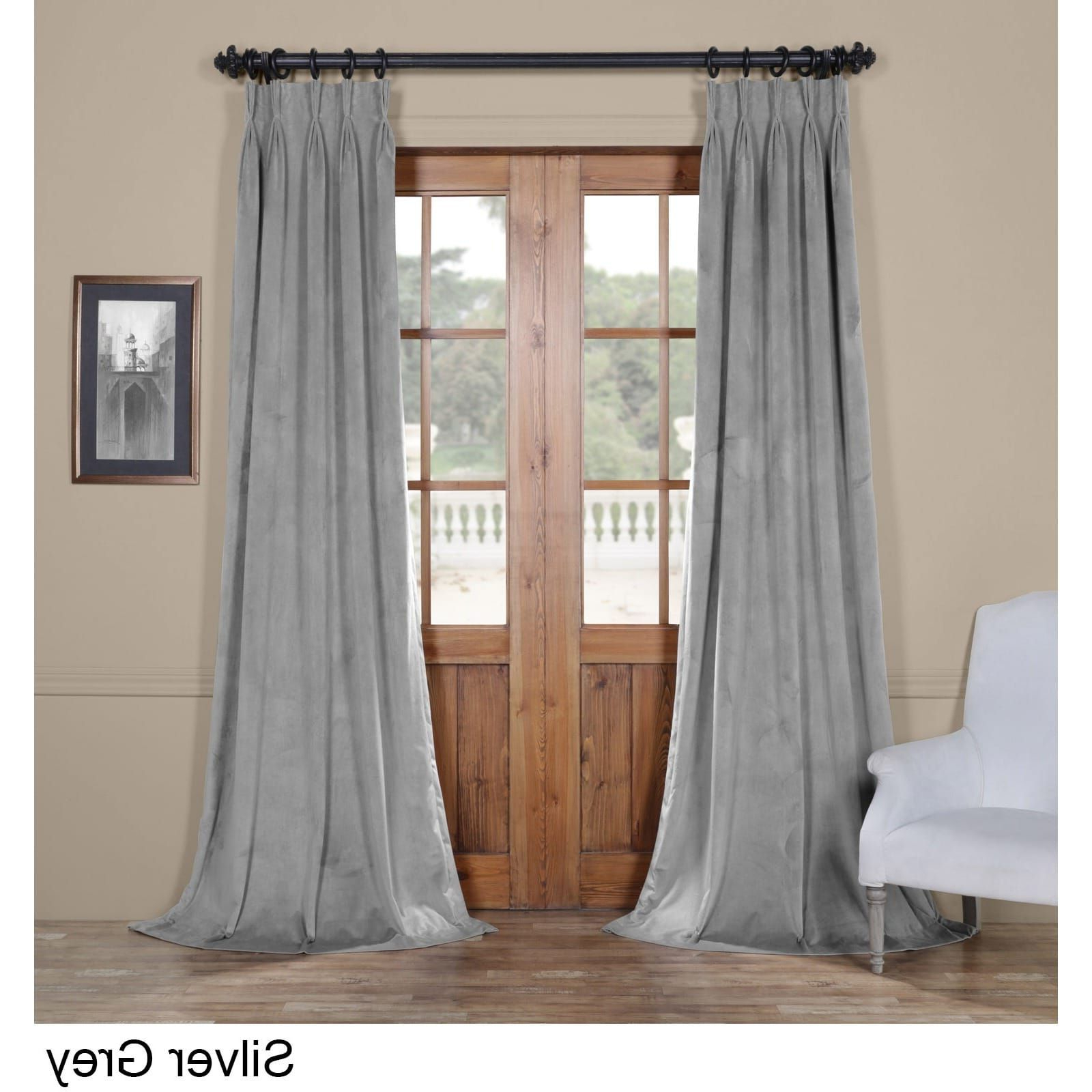 Exclusive Fabrics Signature Pinch Pleated Blackout Solid With Regard To Preferred Signature Pinch Pleated Blackout Solid Velvet Curtain Panels (View 6 of 20)