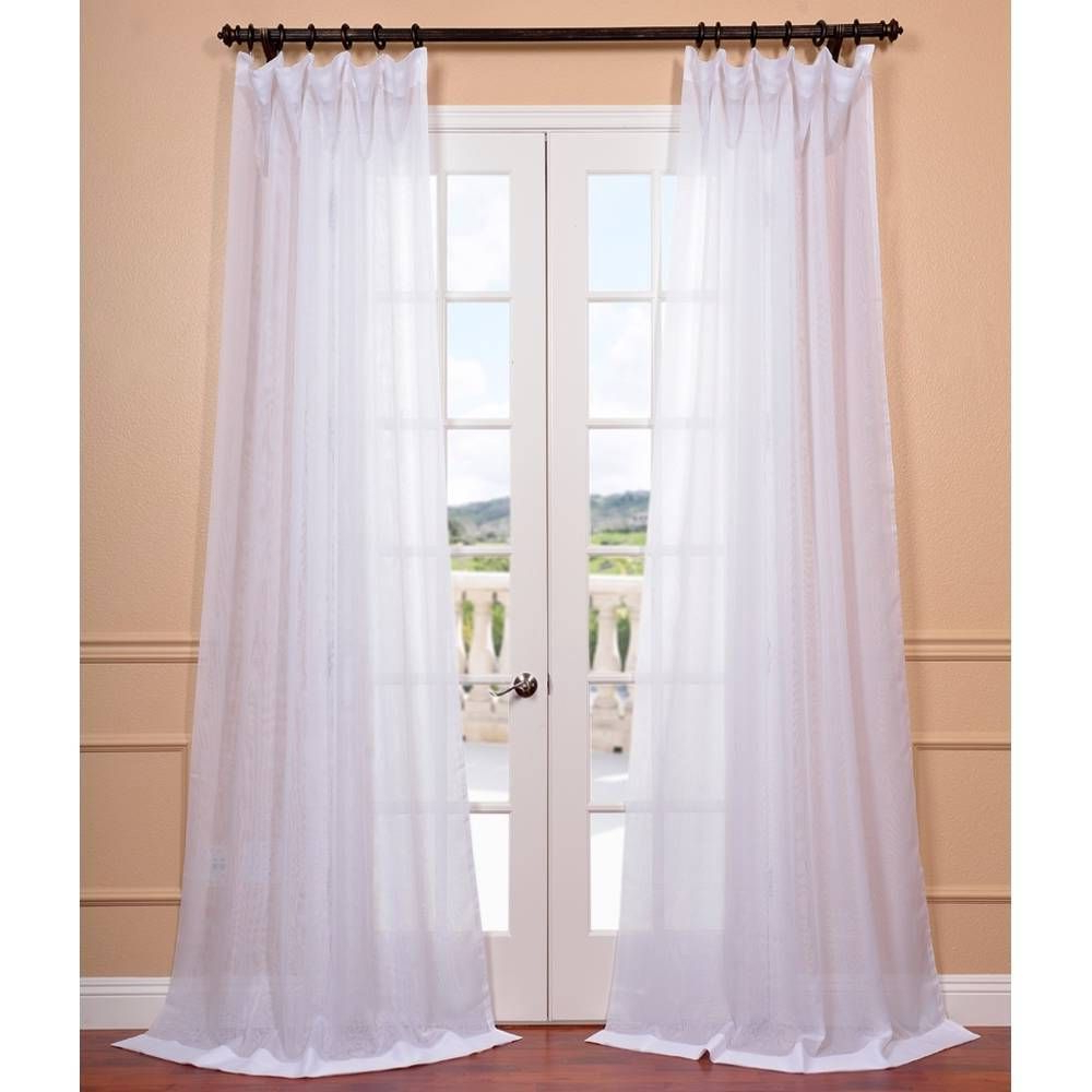 Exclusive Fabrics Signature White Double Layer Sheer Curtain Inside Most Popular Signature White Double Layer Sheer Curtain Panels (View 5 of 20)