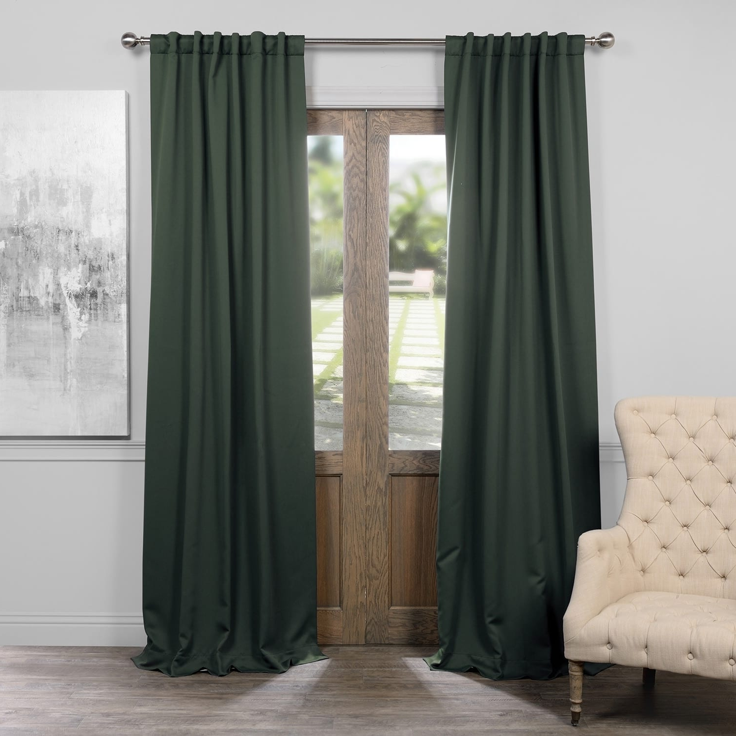 Exclusive Fabrics Thermal Insulated Solid Blackout 120 Inch Curtain Panel Pair – 50 X 120 Pertaining To Newest Solid Thermal Insulated Blackout Curtain Panel Pairs (View 12 of 20)