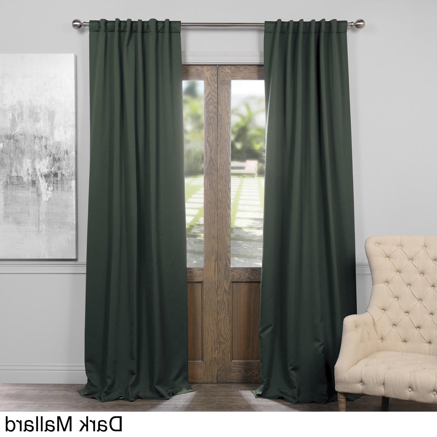 Exclusive Fabrics Thermal Insulated Solid Blackout 96 Inch Pertaining To Fashionable Solid Insulated Thermal Blackout Curtain Panel Pairs (View 13 of 20)