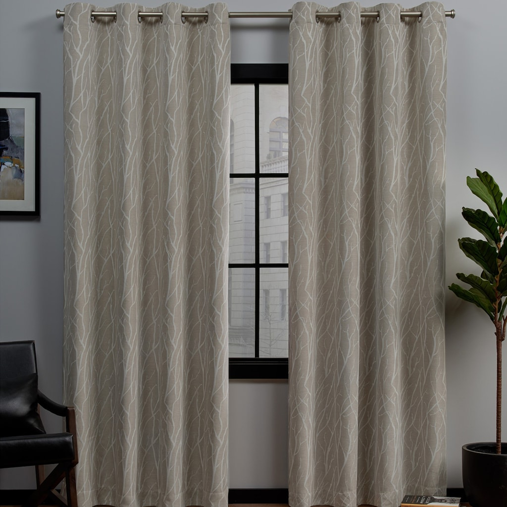 Exclusive Home 2 Pack Forest Hill Woven Blackout Window Pertaining To Most Up To Date Easton Thermal Woven Blackout Grommet Top Curtain Panel Pairs (View 18 of 20)