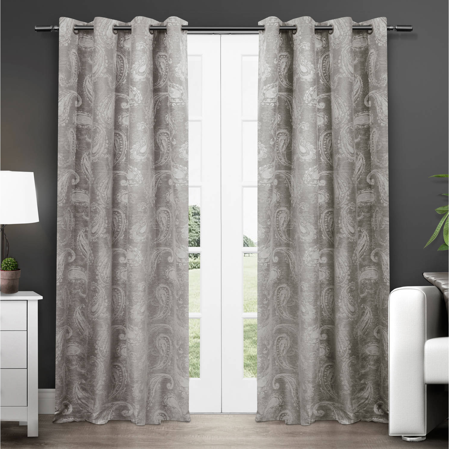 Exclusive Home Bangalore Paisley Thermal Window Curtain Panel Pair With  Grommet Top For Favorite Grommet Top Thermal Insulated Blackout Curtain Panel Pairs (Gallery 16 of 20)