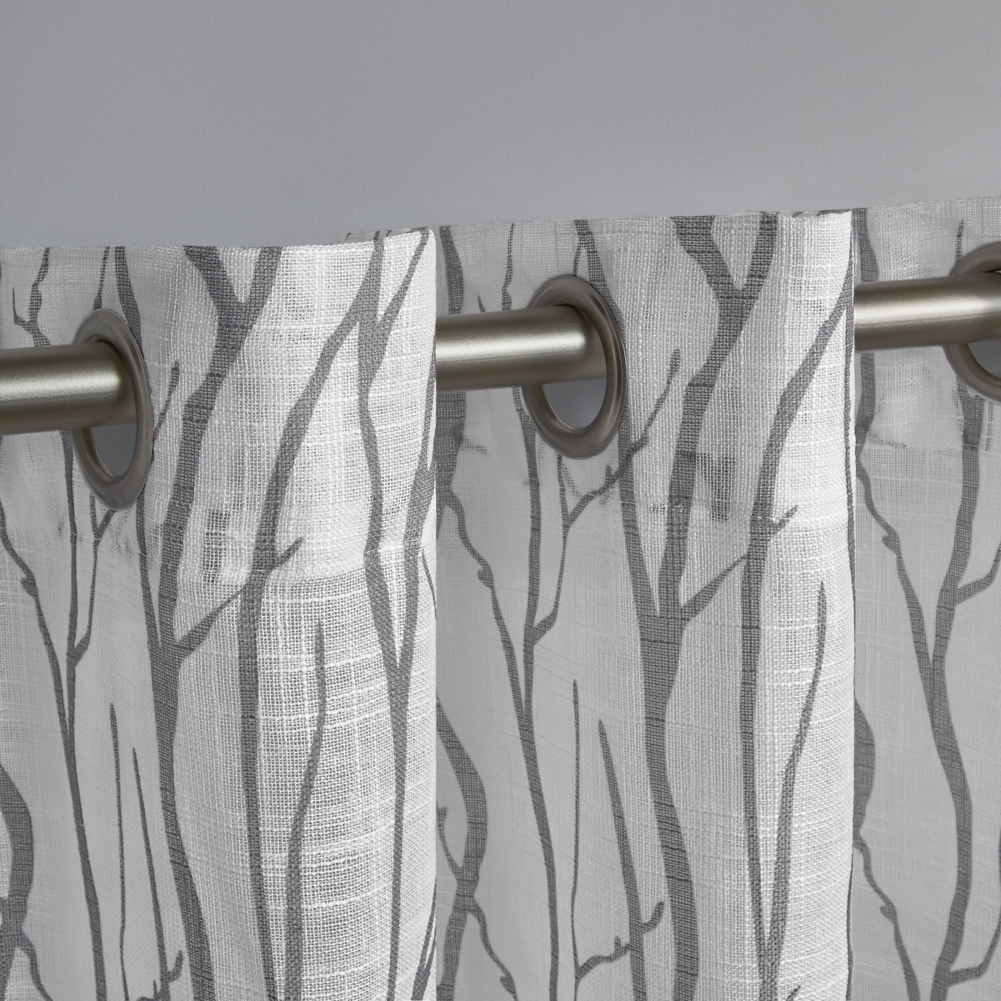 Exclusive Home Curtains 2 Pack Oakdale Motif Textured Linen Grommet Top  Curtain Panels For Popular Oakdale Textured Linen Sheer Grommet Top Curtain Panel Pairs (View 4 of 20)