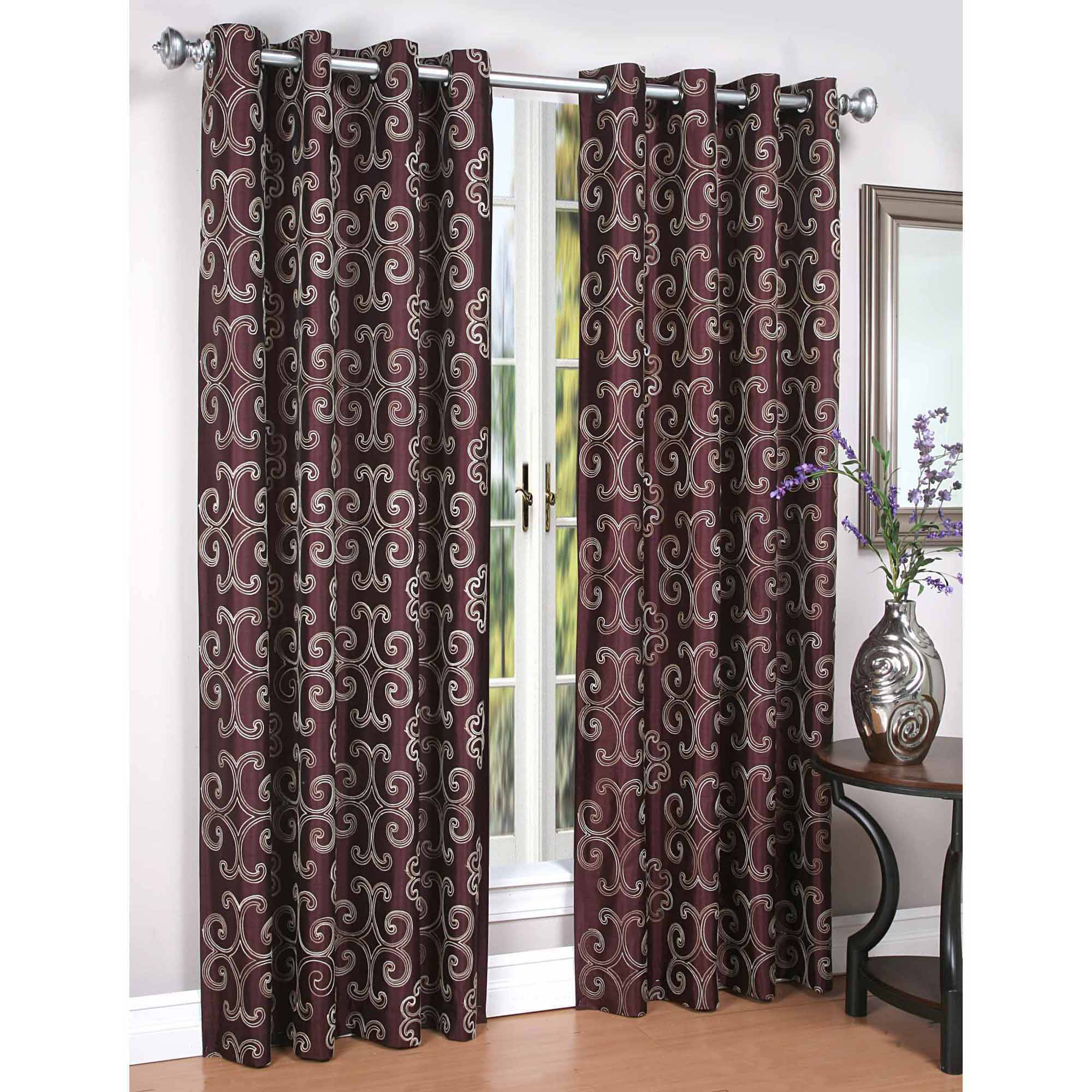 Exclusive Home Curtains 2 Pack Raw Silk Thermal Grommet Top Curtain Panels Throughout Most Up To Date Raw Silk Thermal Insulated Grommet Top Curtain Panel Pairs (Gallery 19 of 20)