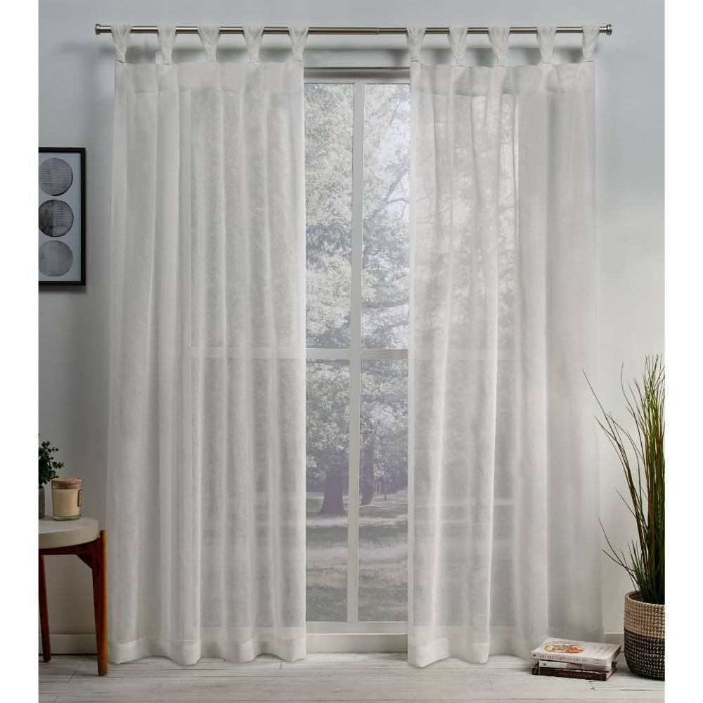 Exclusive Home Curtains Belgian 50 In. W X 84 In. L Sheer Regarding Favorite Belgian Sheer Window Curtain Panel Pairs With Rod Pocket (Gallery 11 of 20)
