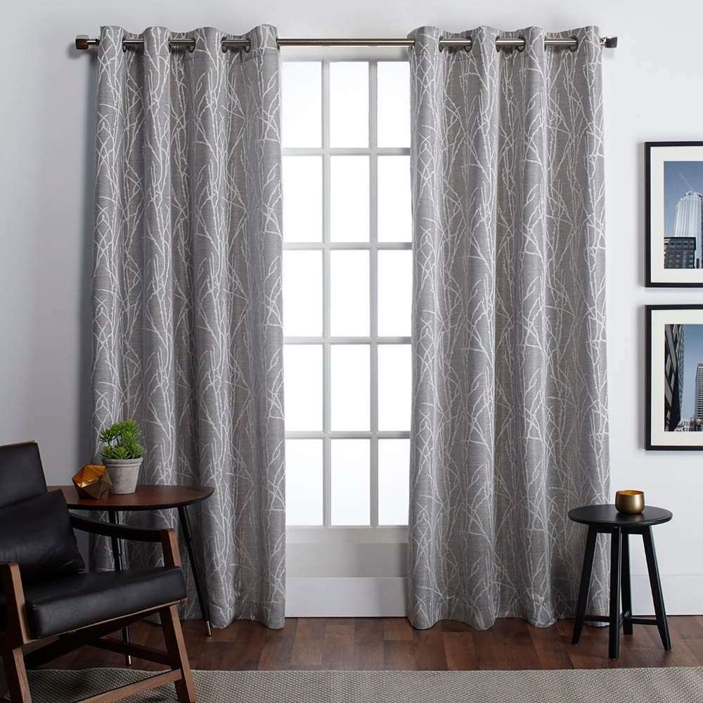 Exclusive Home Curtains Finesse Window Curtain Panel Pair With Grommet Top, 54x84, Ash Grey, 2 Piece Intended For Trendy Luxury Collection Cranston Sheer Curtain Panel Pairs (View 6 of 20)