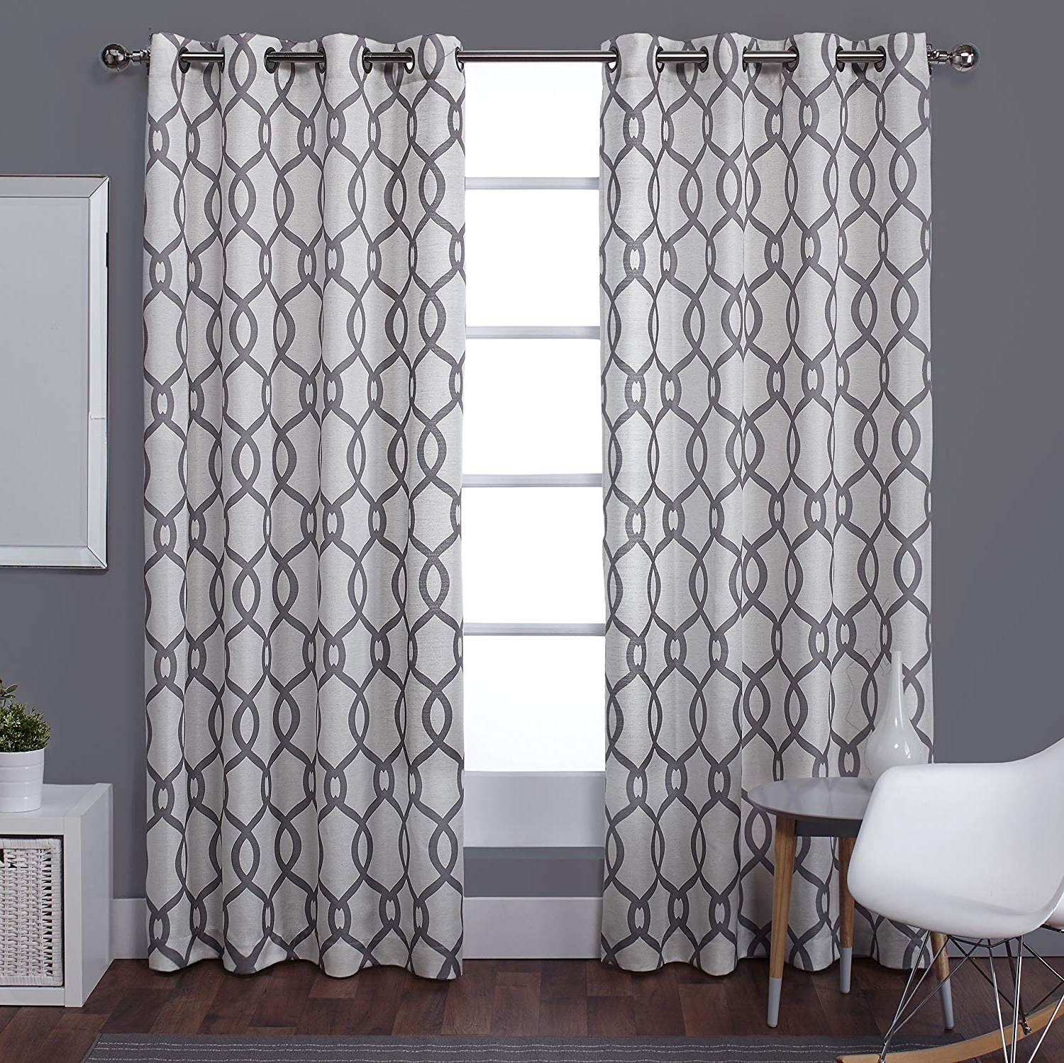 Exclusive Home Curtains Kochi Linen Blend Window Curtain Panel Pair With Grommet Top, 54x63, Black Pearl, 2 Piece In Most Current Kochi Linen Blend Window Grommet Top Curtain Panel Pairs (View 3 of 20)